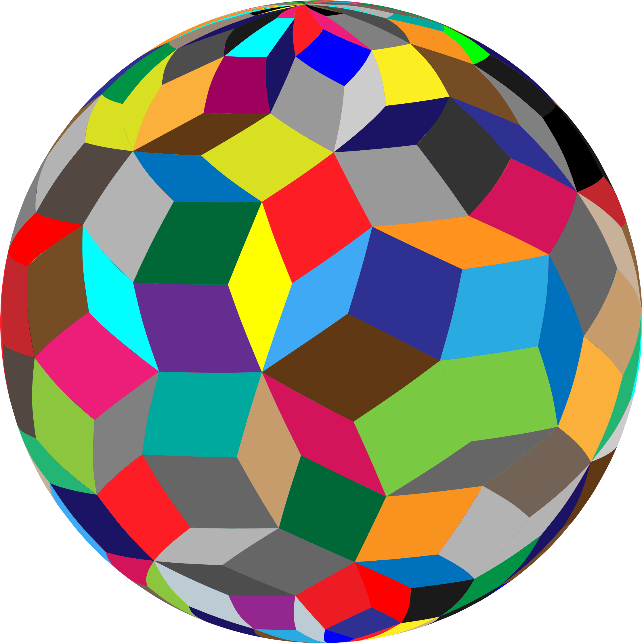 Colorful Geometric Sphere by GDJ