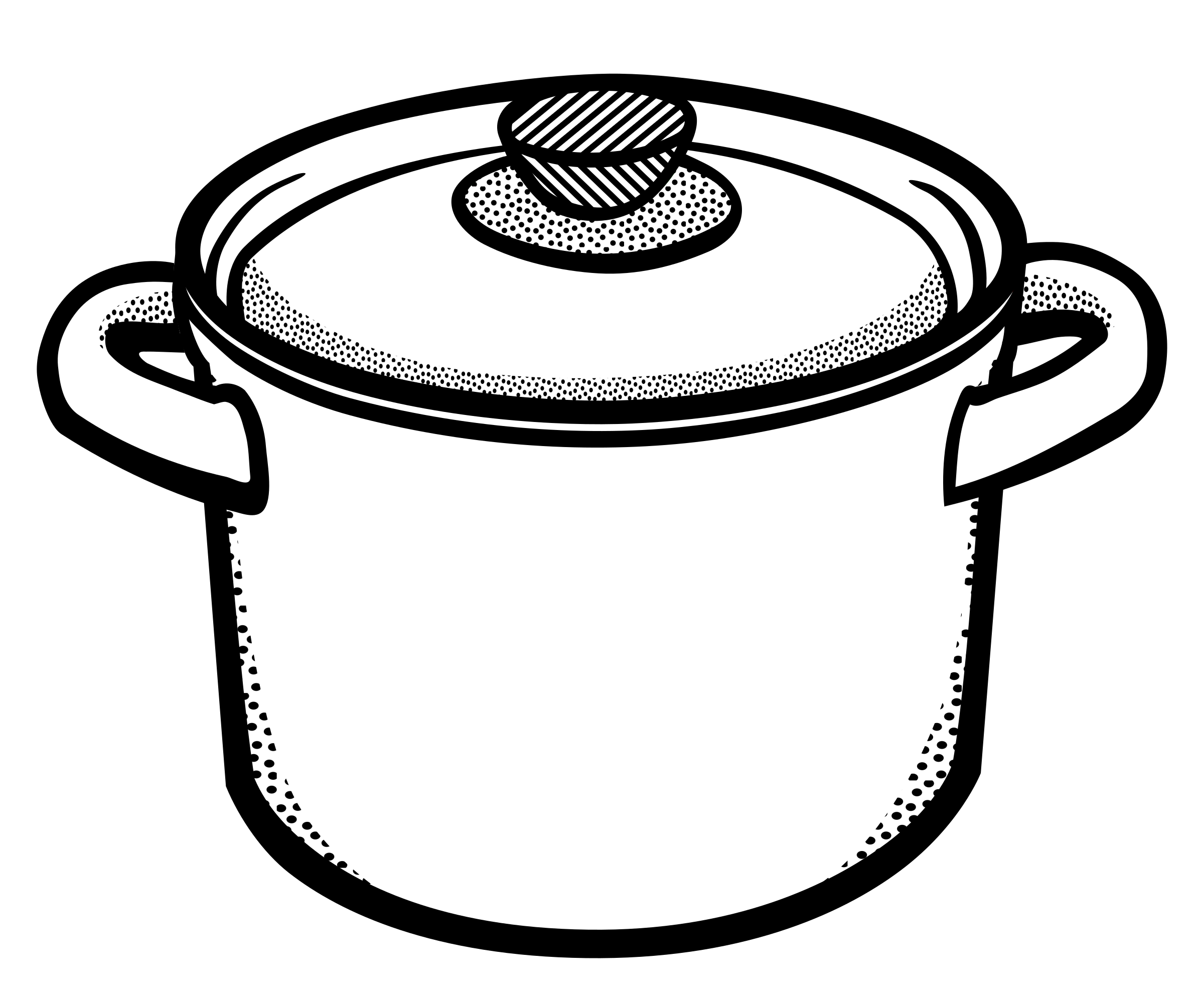 Clipart - cooking pot - lineart
