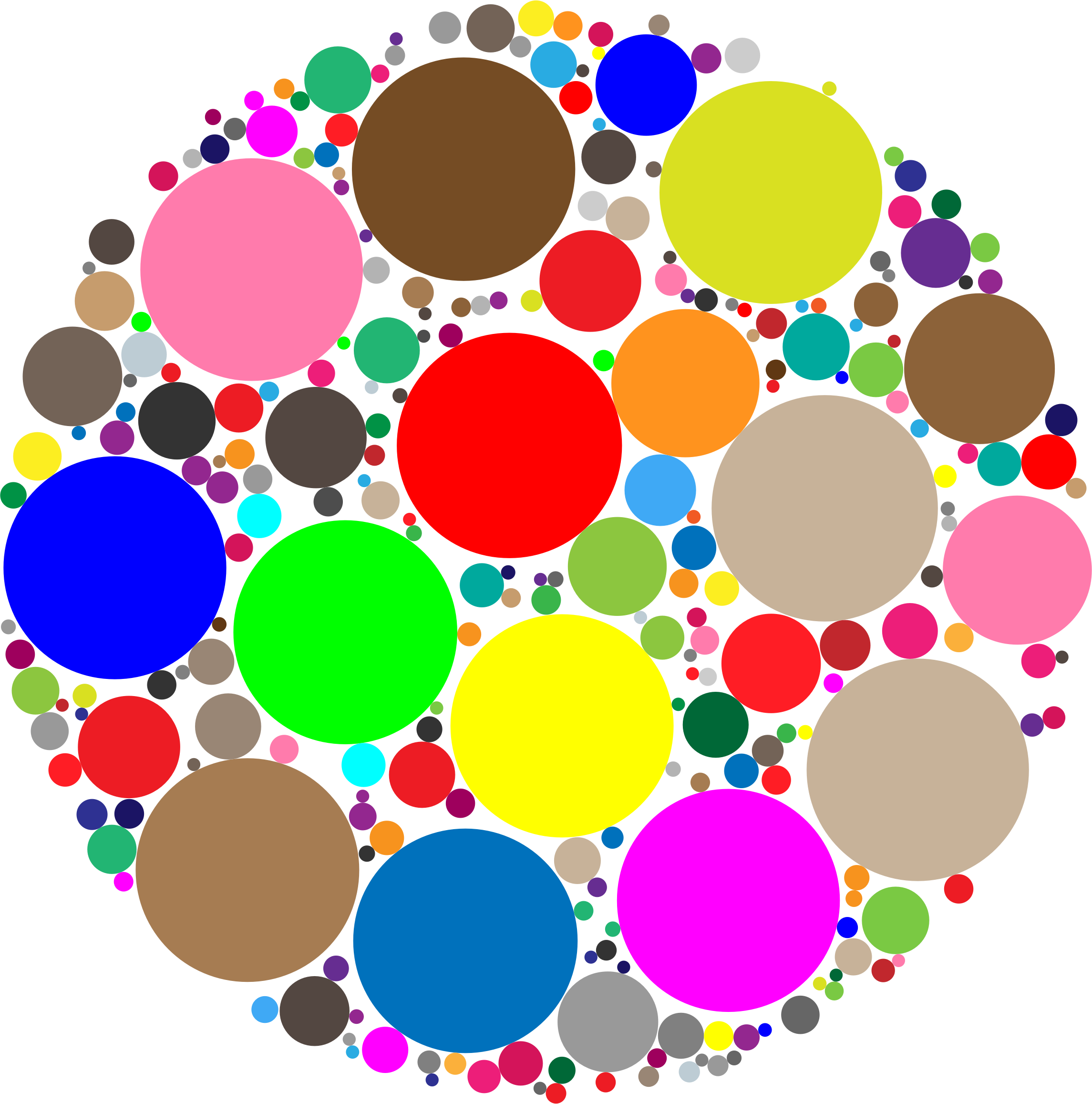 Clipart - Circles In Circle
