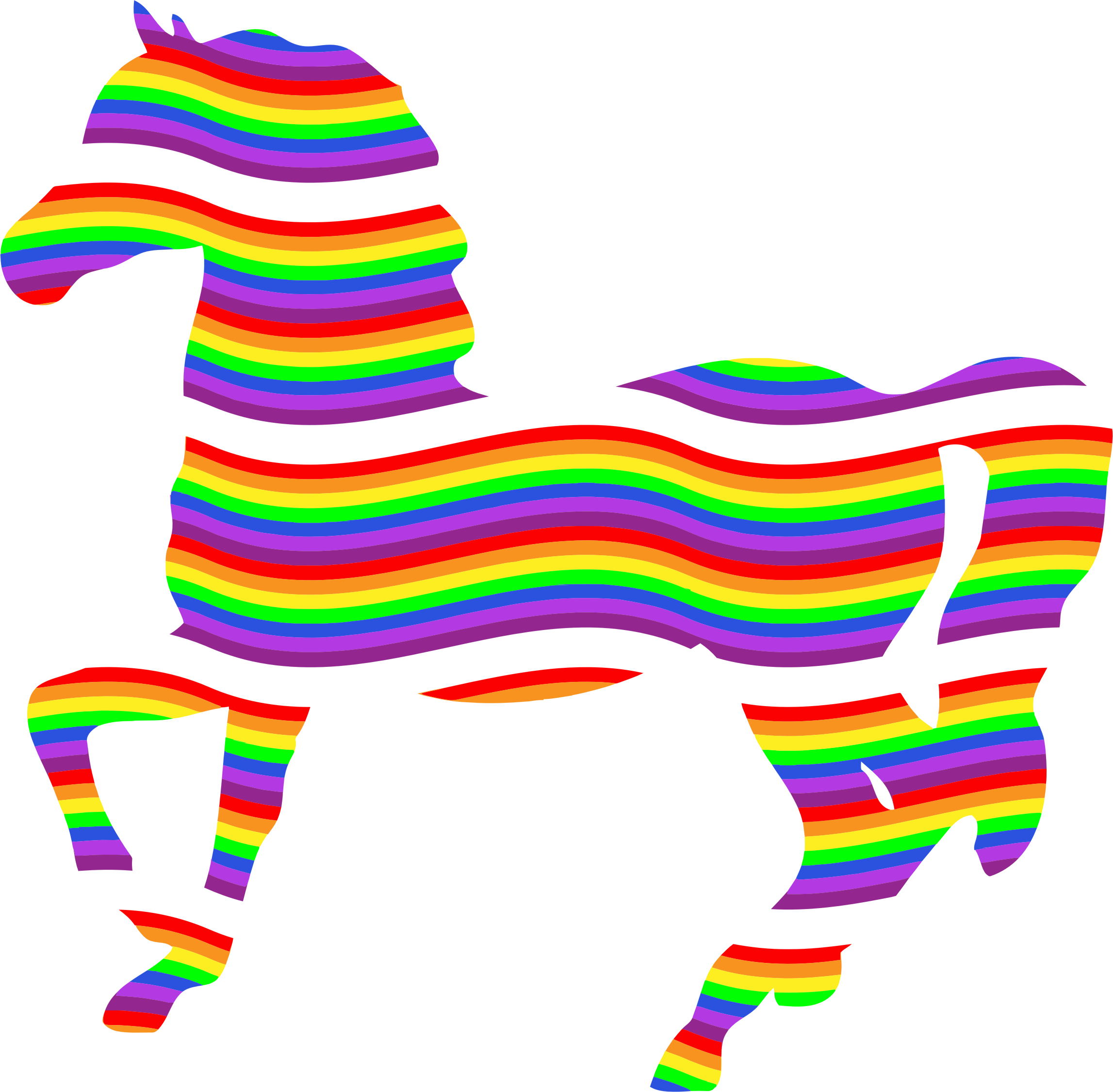 Colorful Rainbow Horse by GDJ