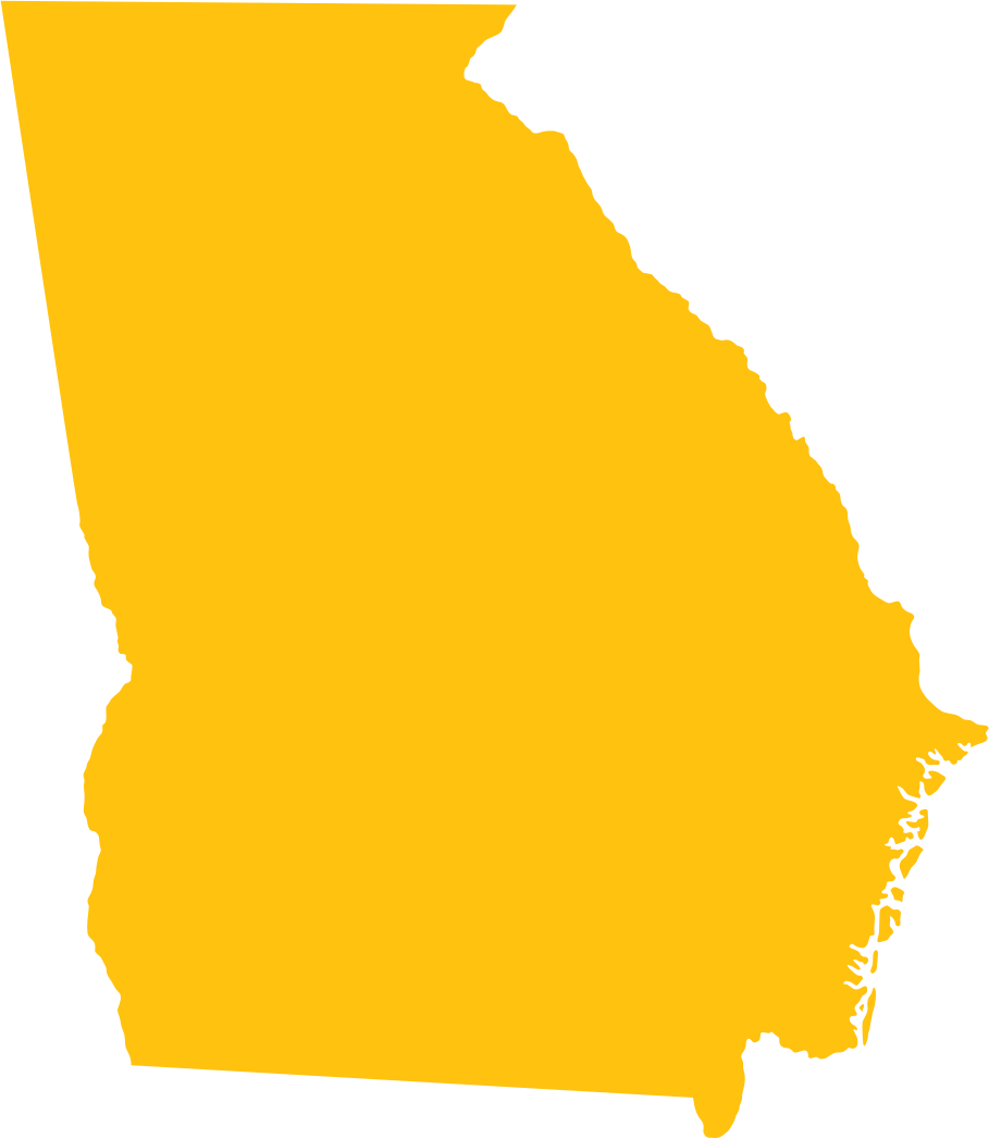 Georgia State Outline by drothfuss