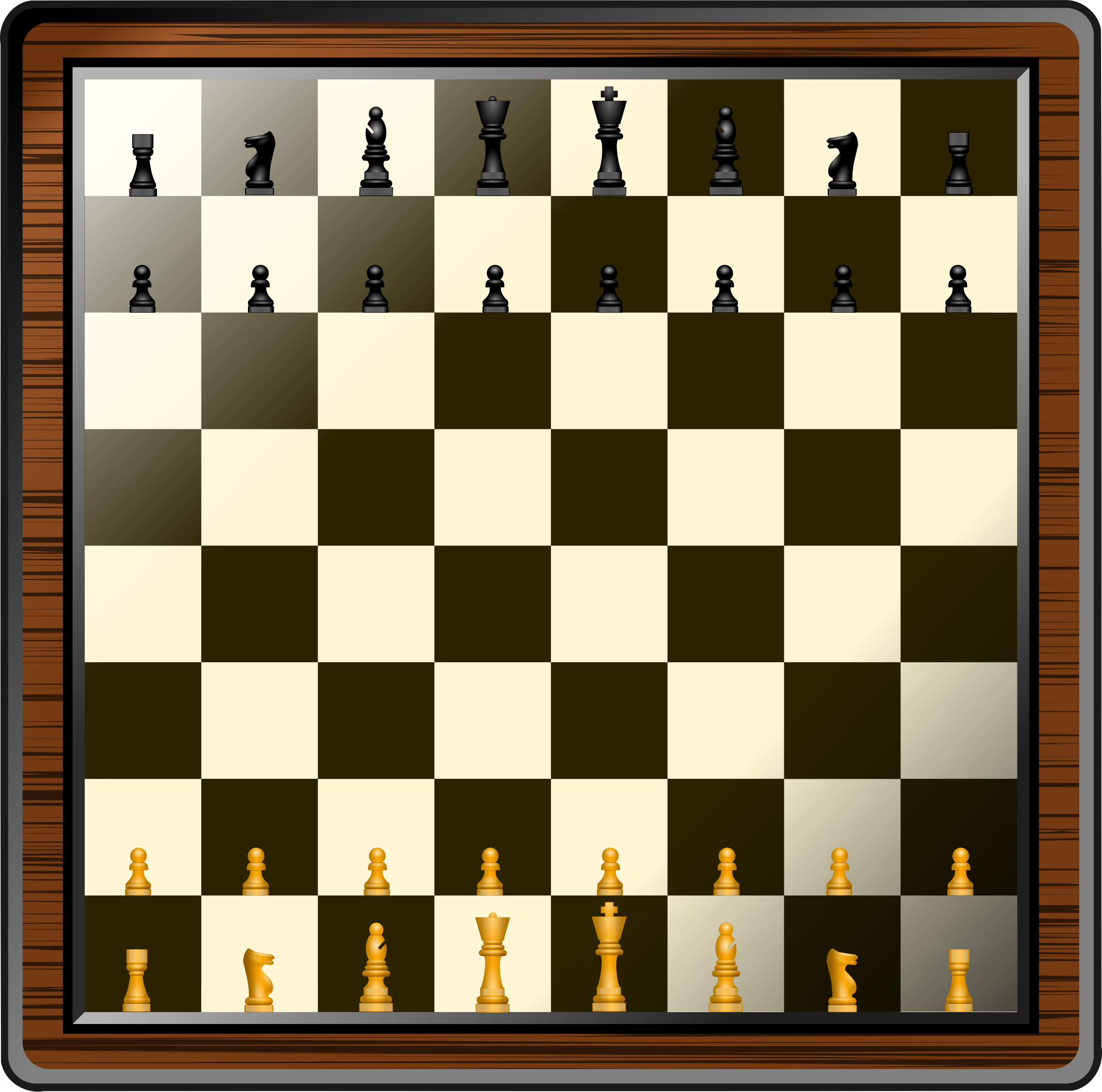 Fancy Chess Board And Pieces by GDJ