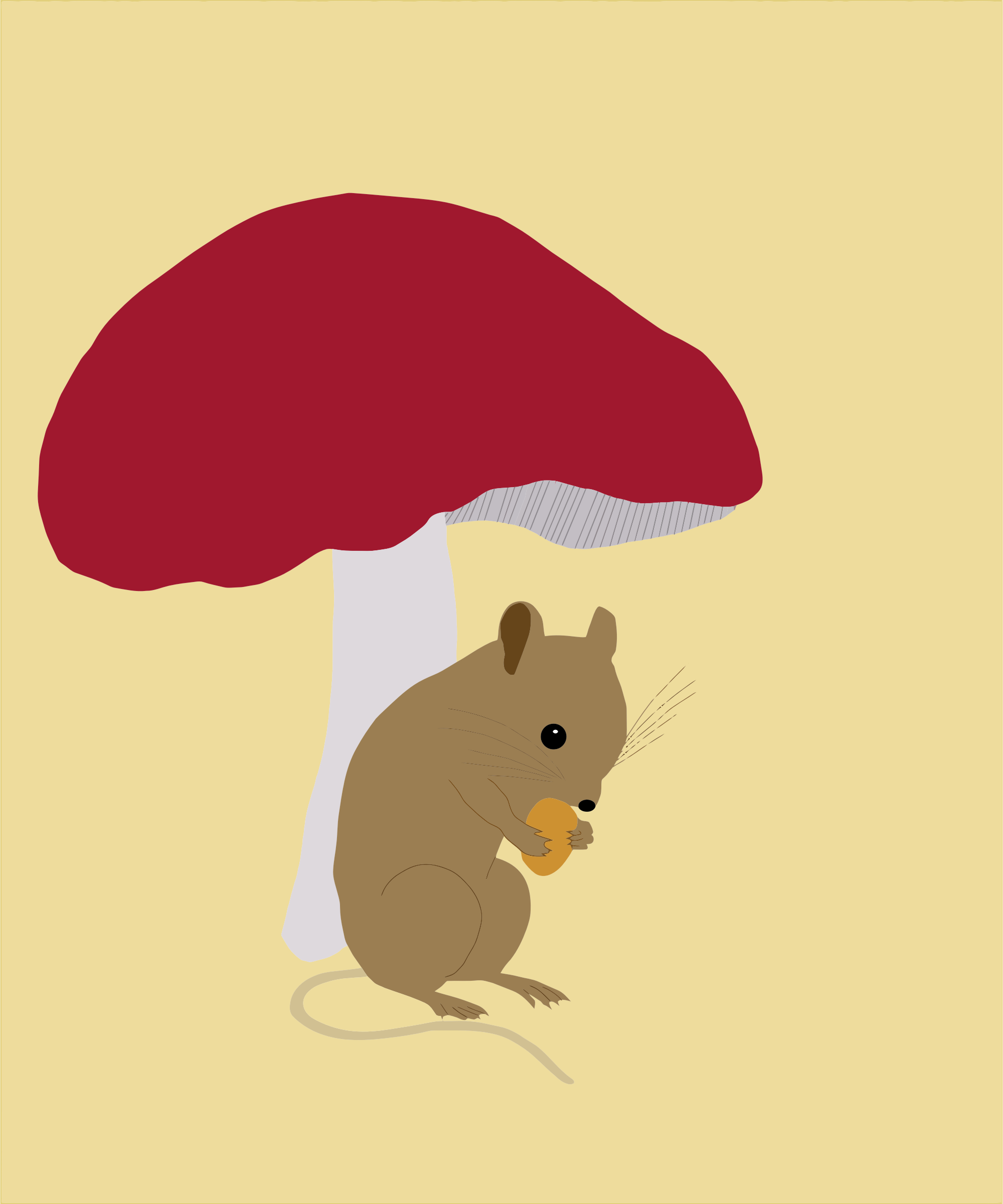 Field Mouse Under Toadstool by GDJ
