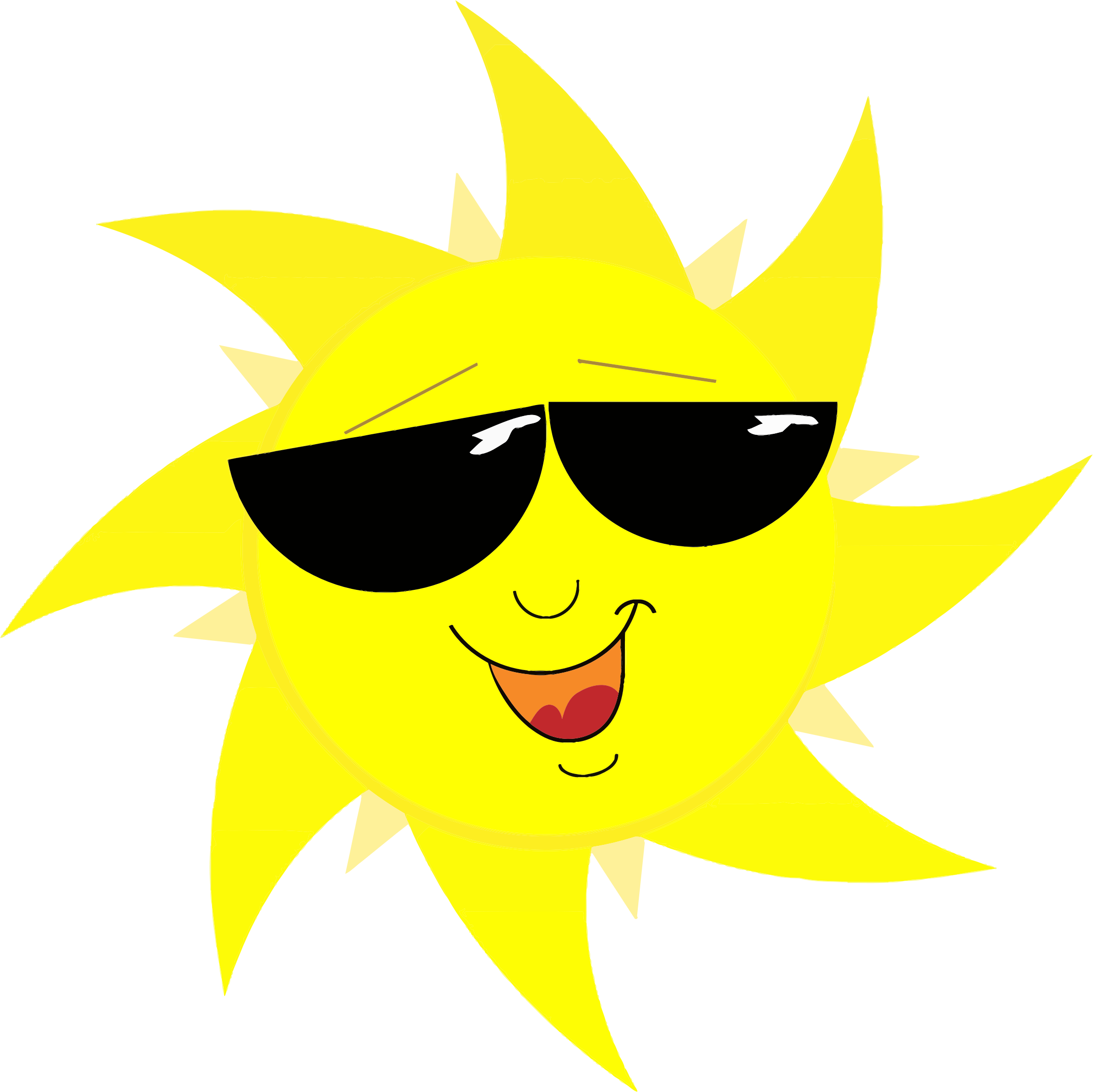 Smiling Sun With Sunglasses by GDJ