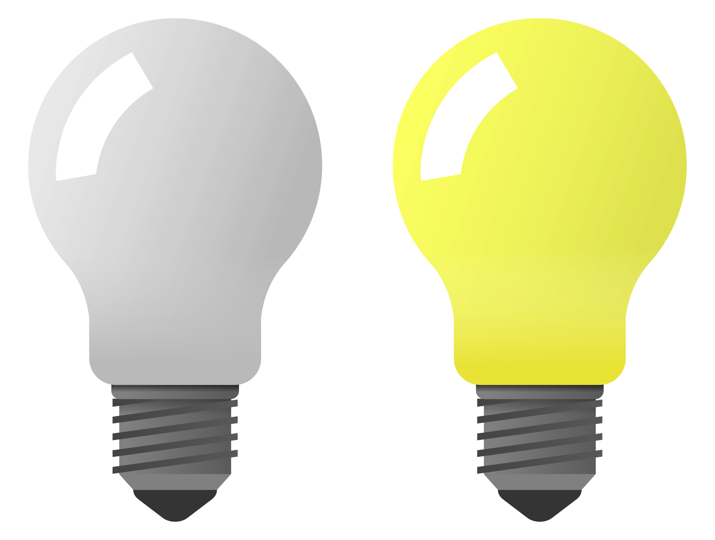Clipart Light Bulb On Off