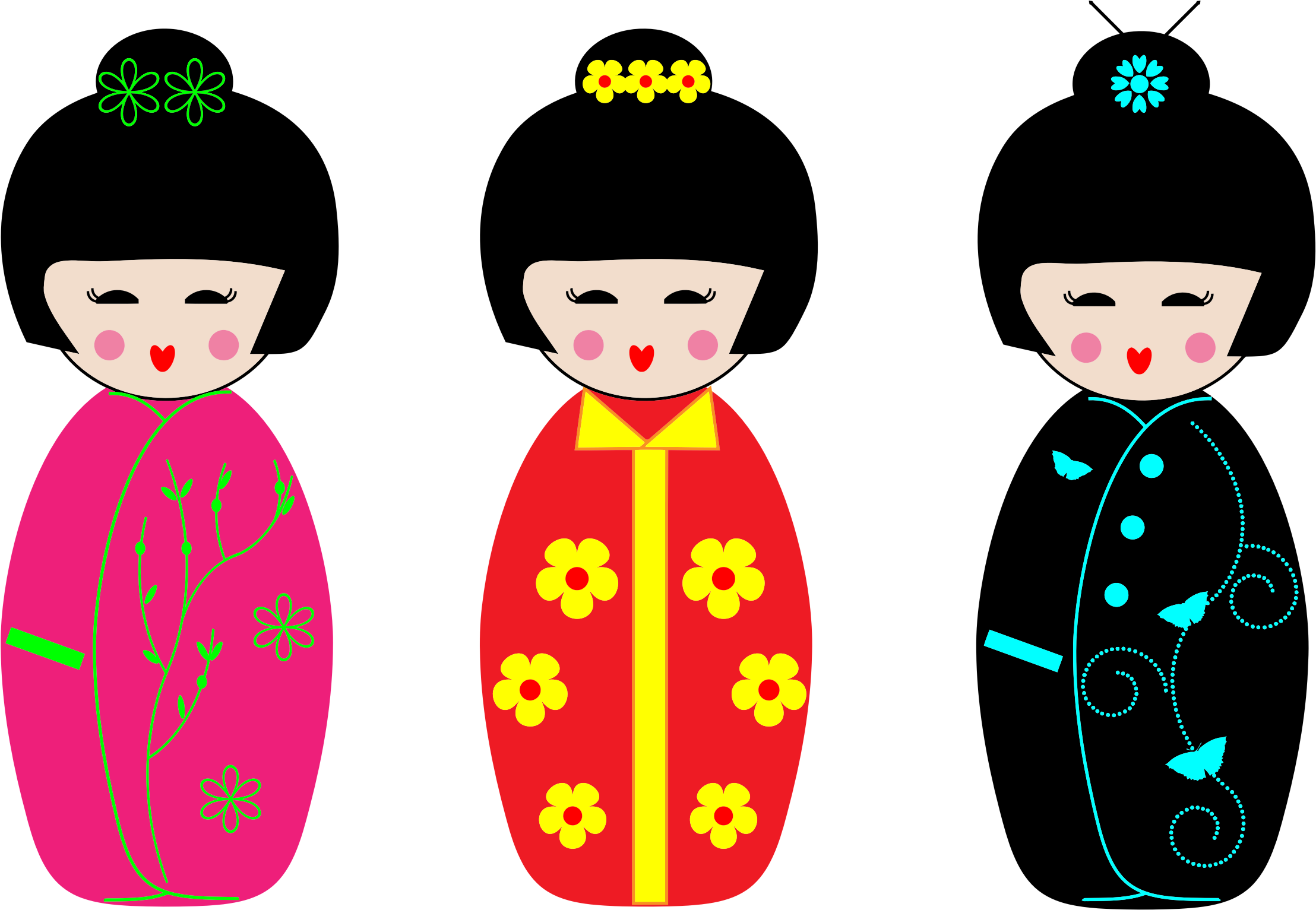 Kokeshi Dolls by GDJ