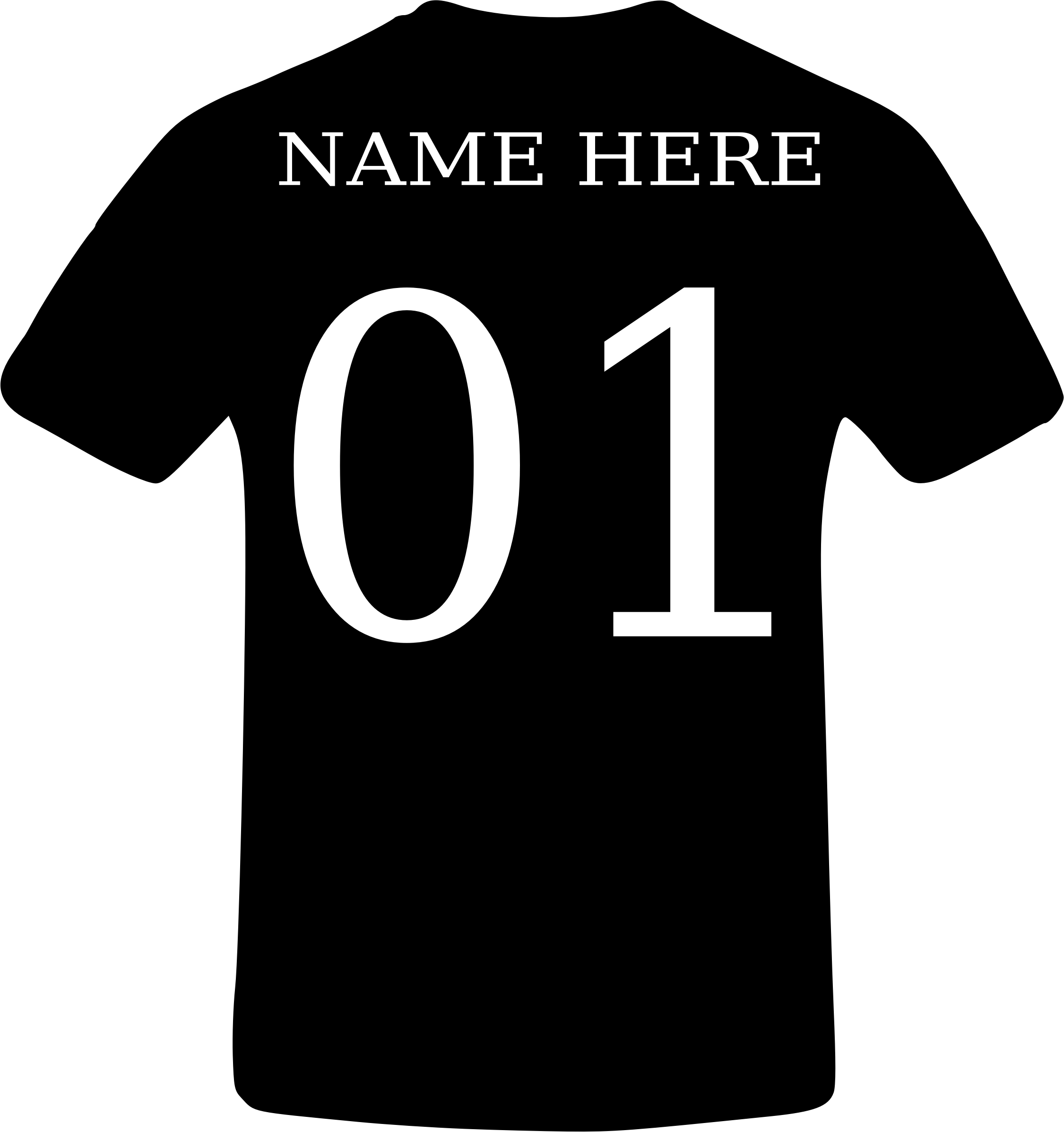 Name Number T-Shirt by subpressions@gmail.com