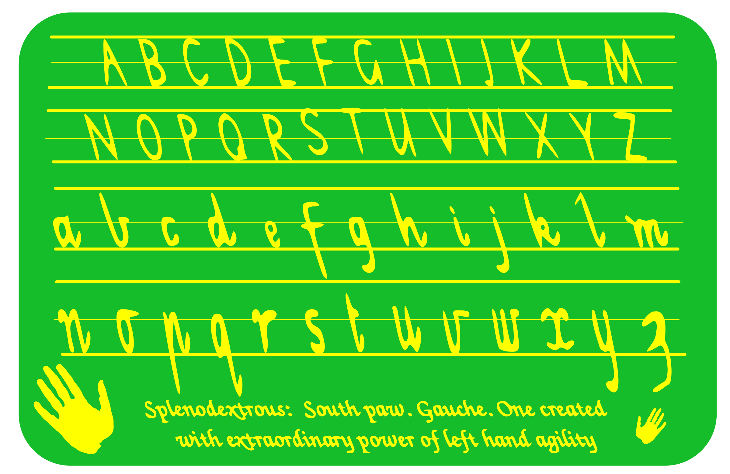 cursive writing for left handers Left-hander writing tips so much attention is given to those who write with their right hand, and yet, there are so many left-handers in the world.