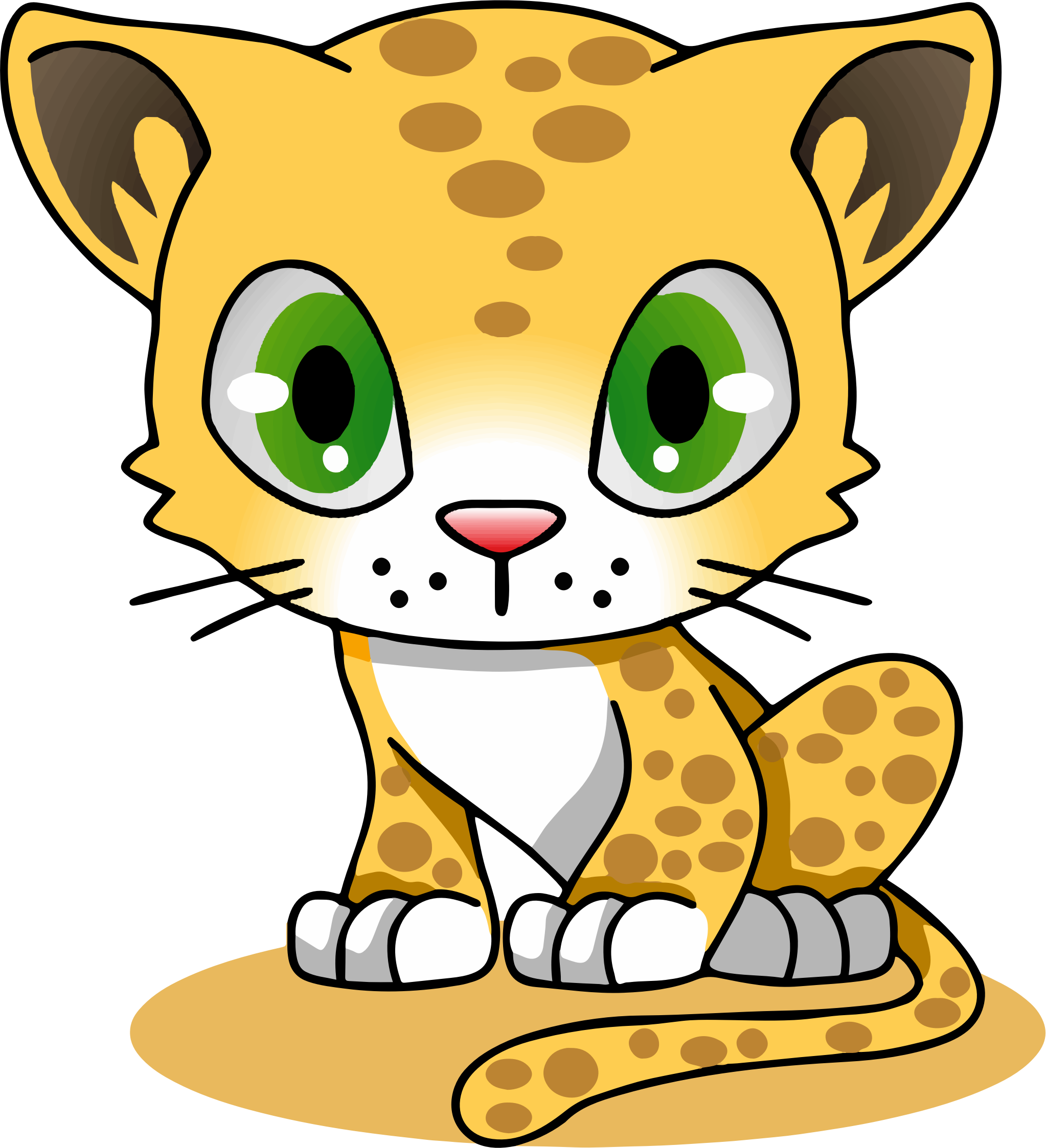 Cartoon Characters 2010 : Clipart cartoon leopard
