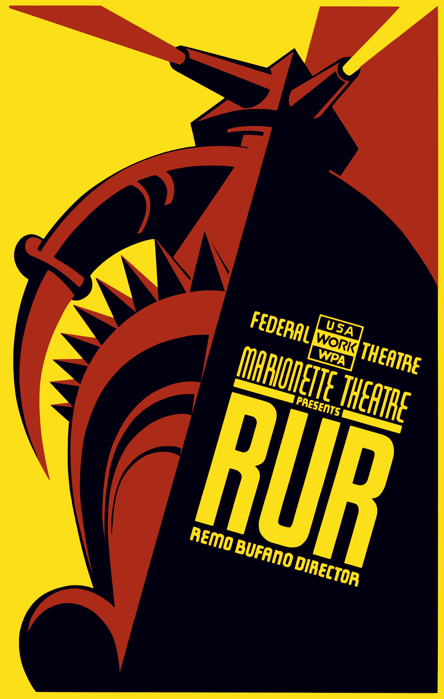Federal Theatre - Marionette Theatre presents RUR by liftarn