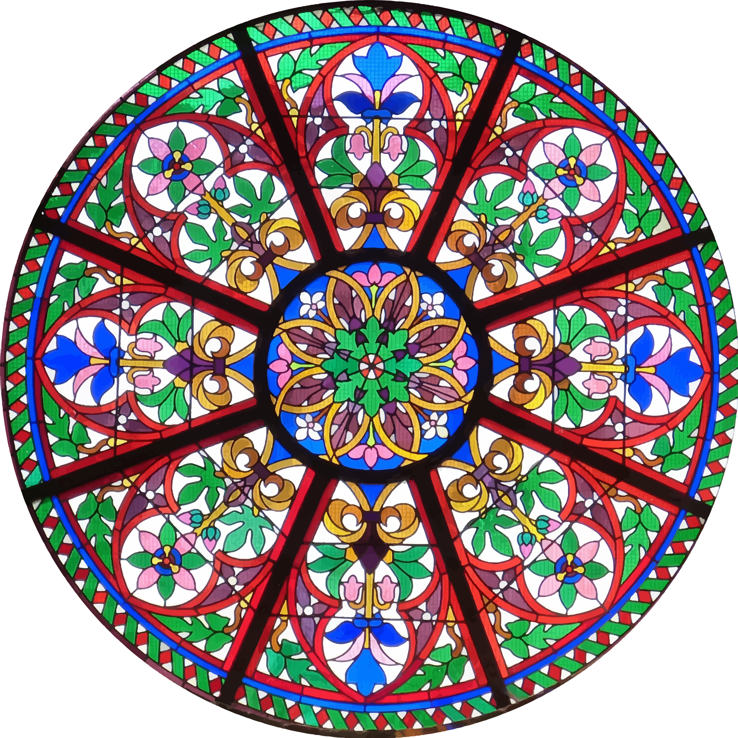 Circular Church Stained Glass Window by GDJ
