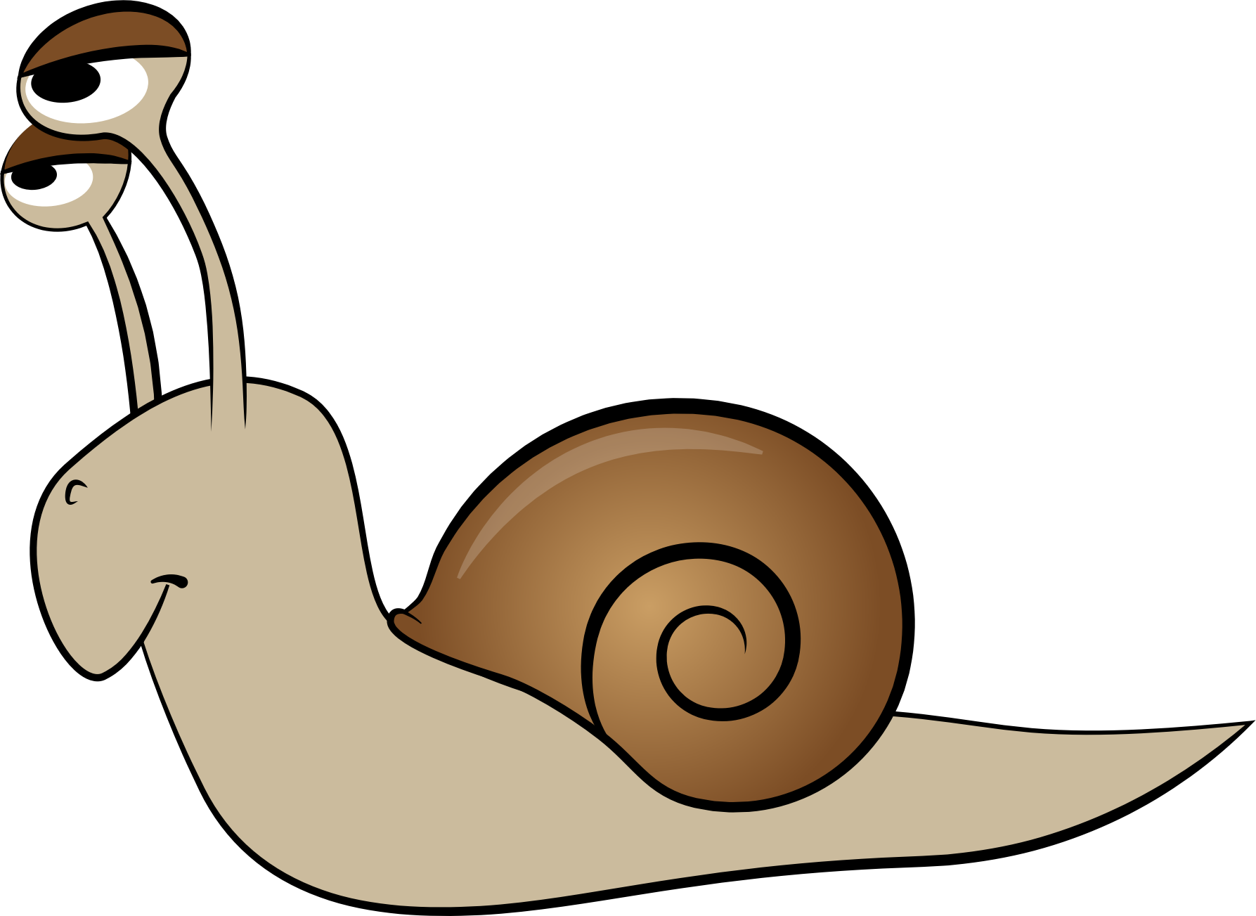 Clipart - Cartoon Snail