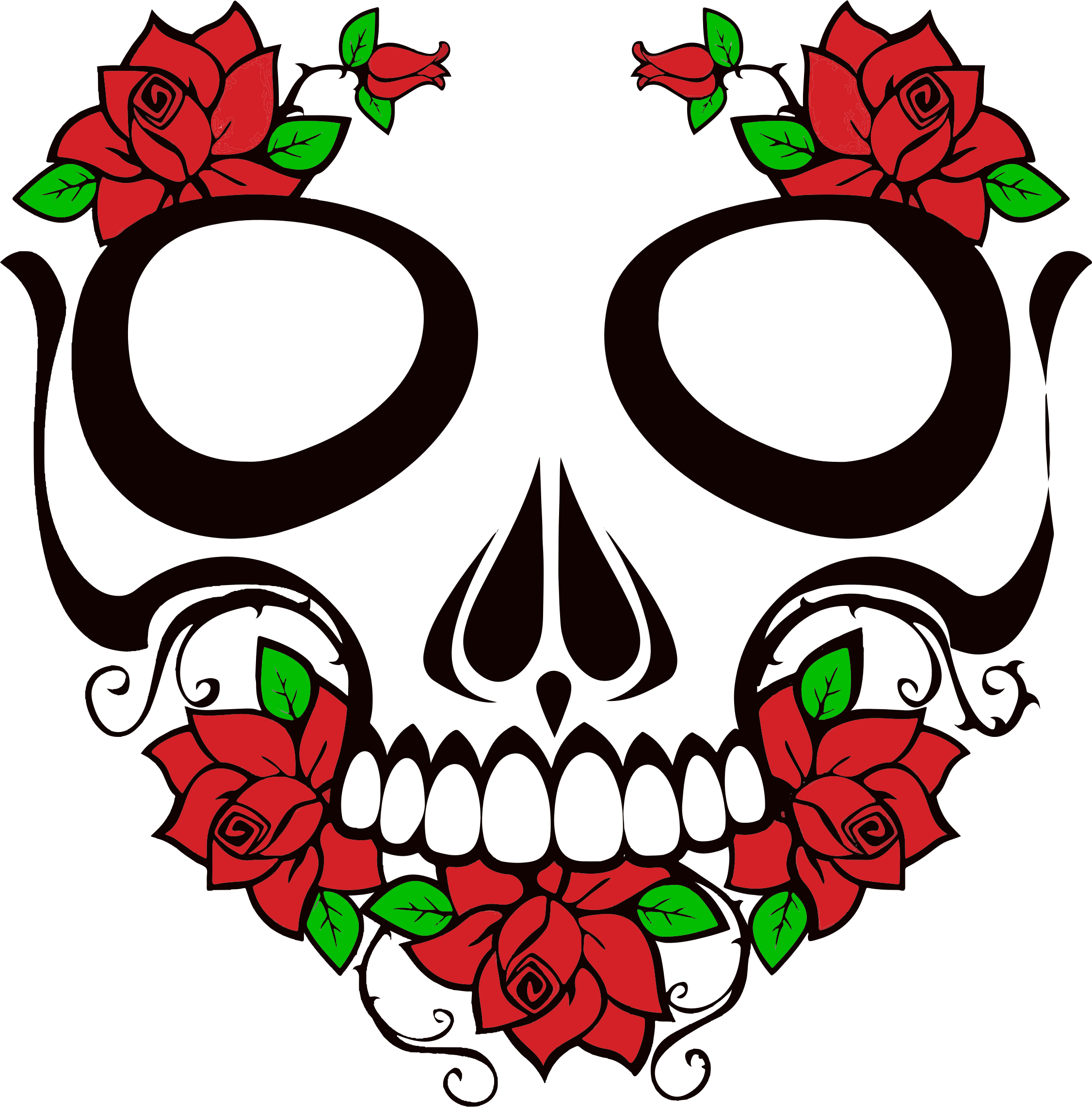 Skull And Roses by GDJ