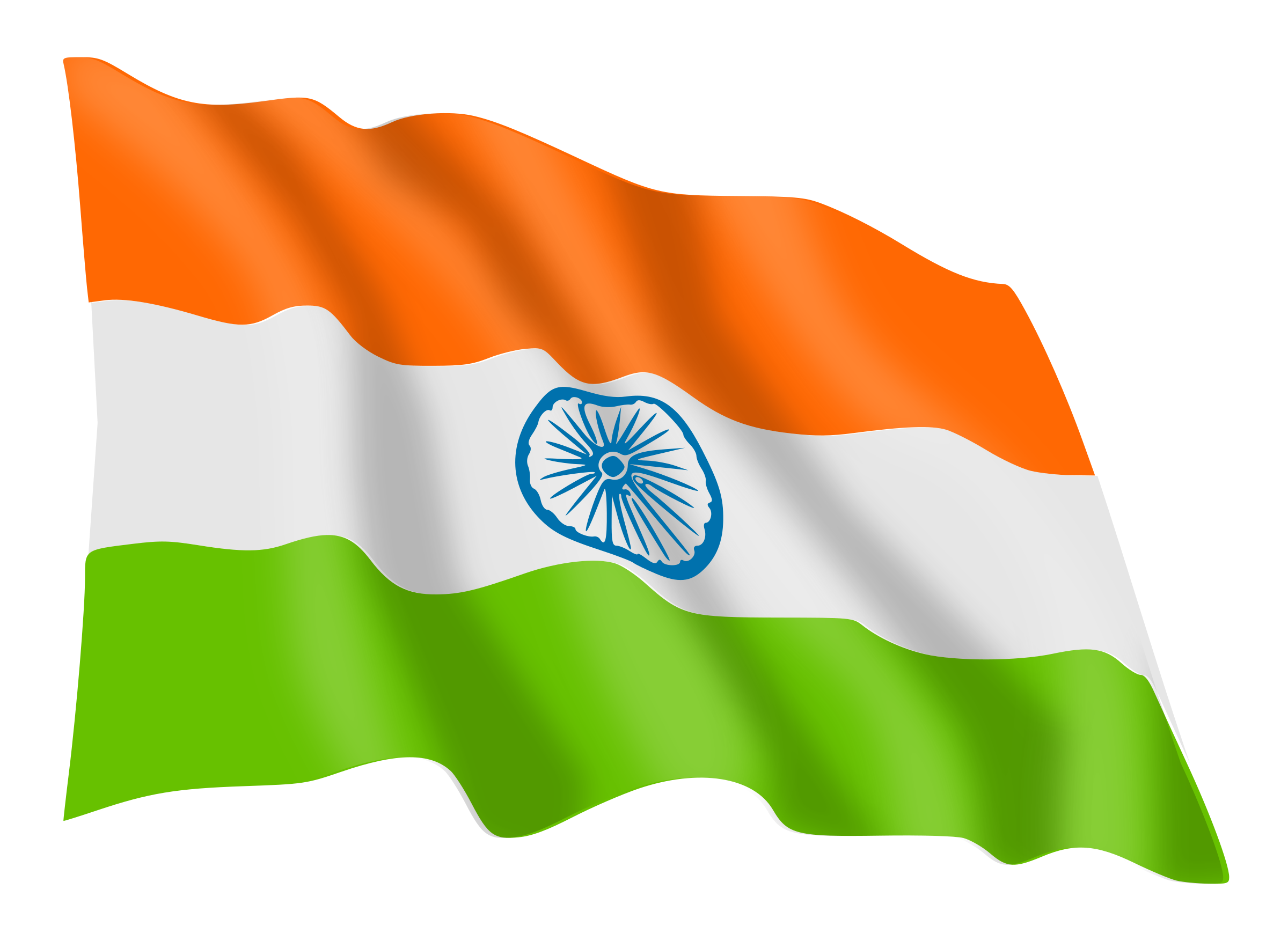 India Flag by gnokii