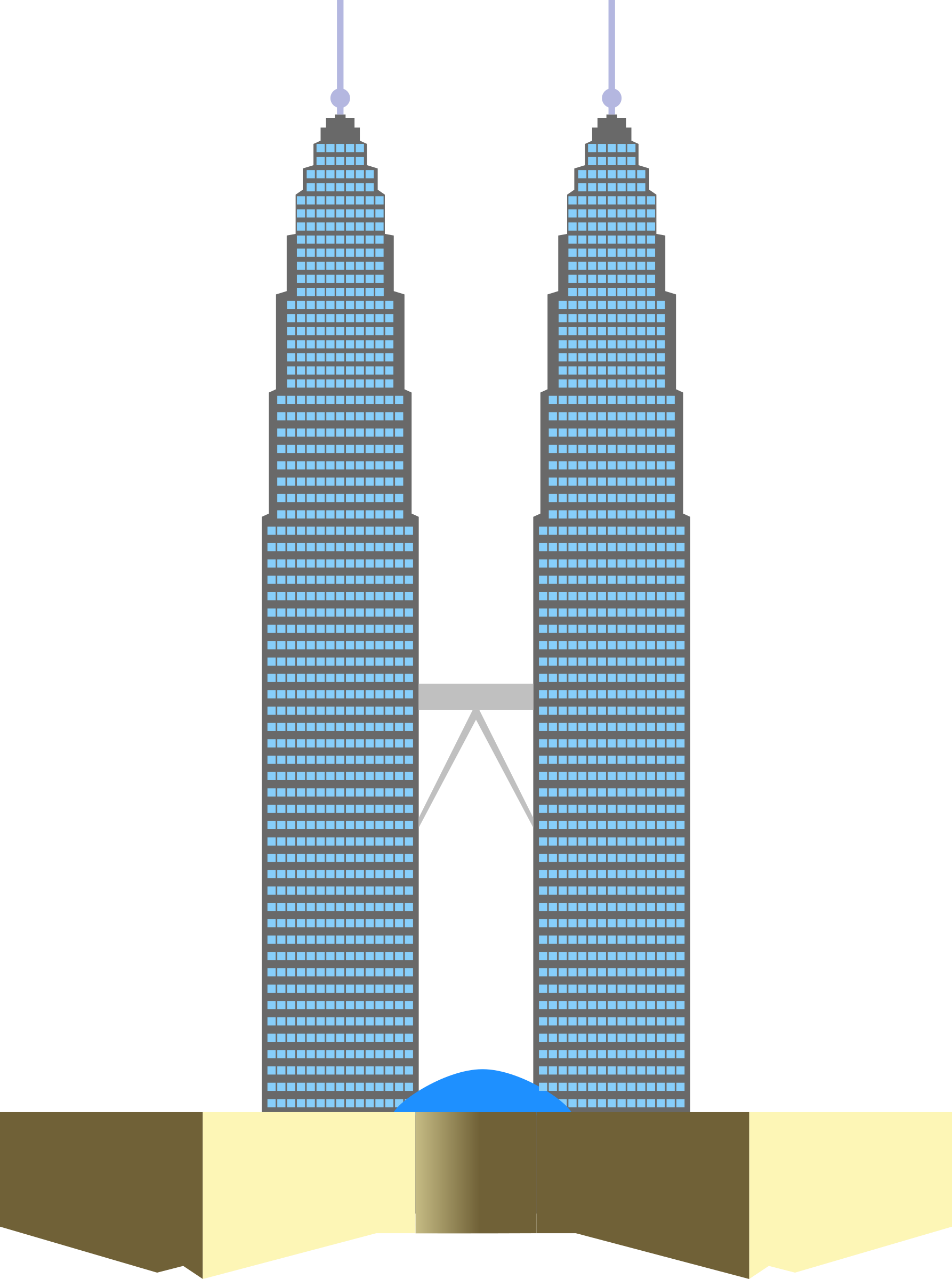 clipart petronas twin towers rh openclipart org twin towers clipart free Twin Towers Silhouette