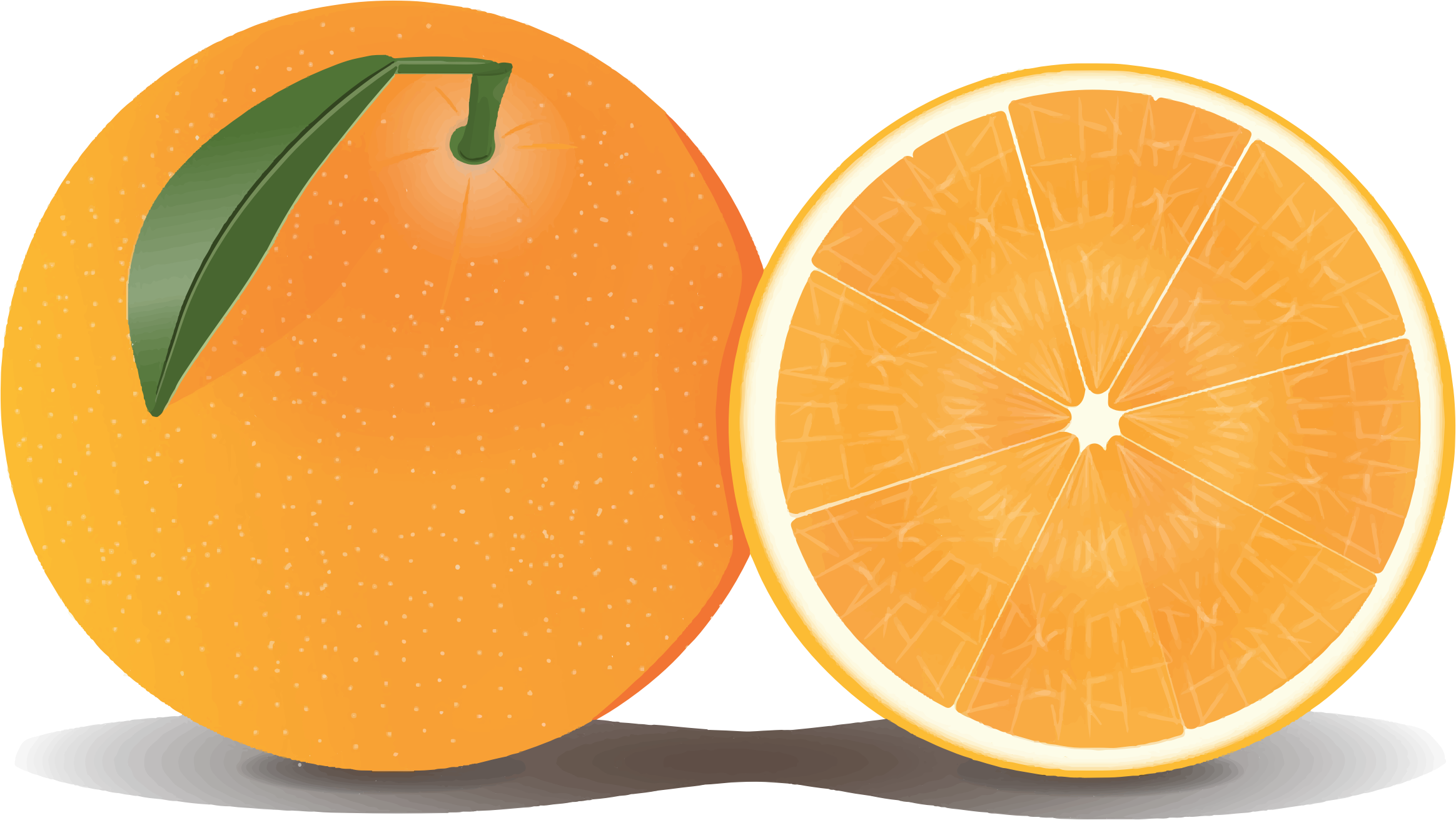 Https Openclipart Org Detail 221257 Orange And A Half