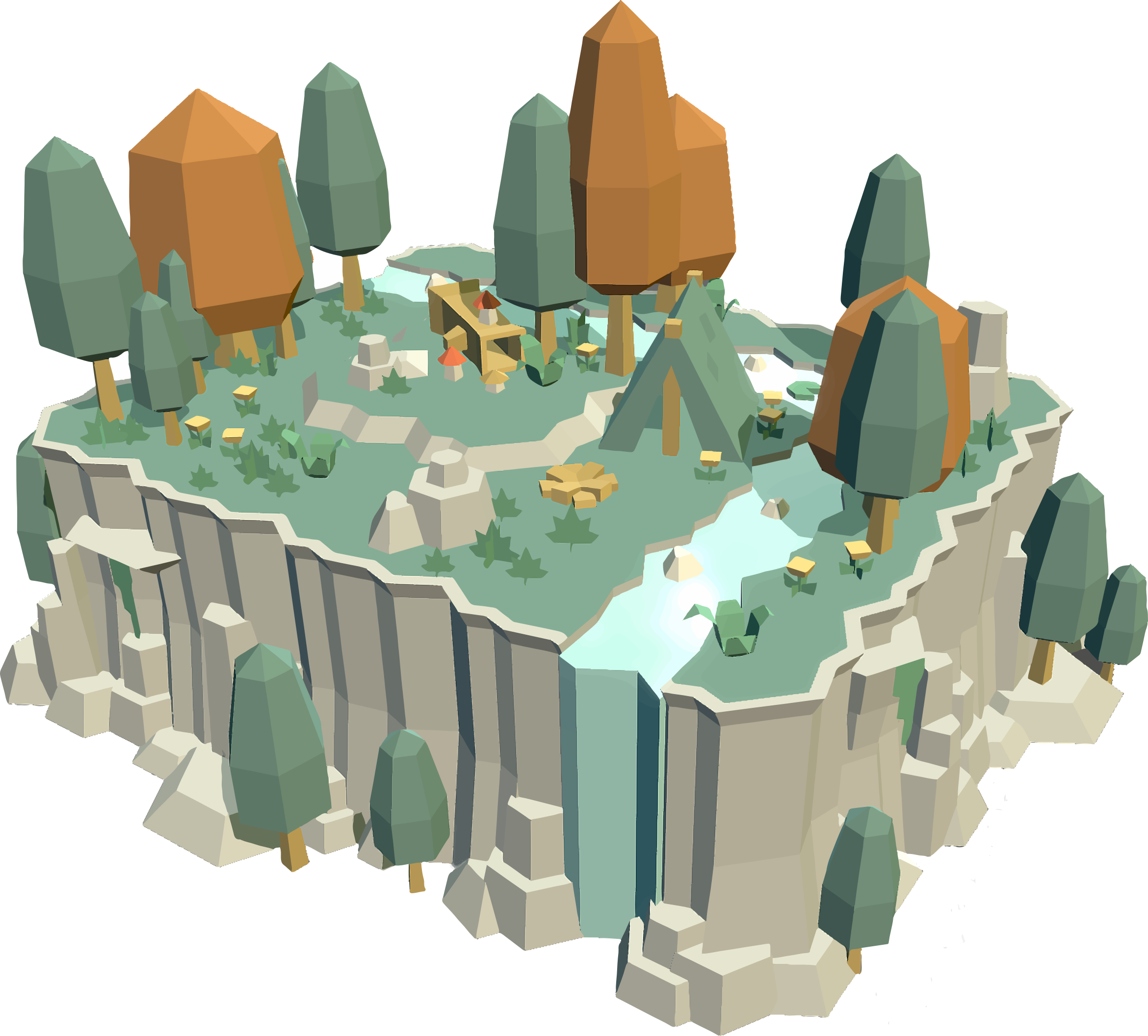3D Low Poly Nature Scene by GDJ