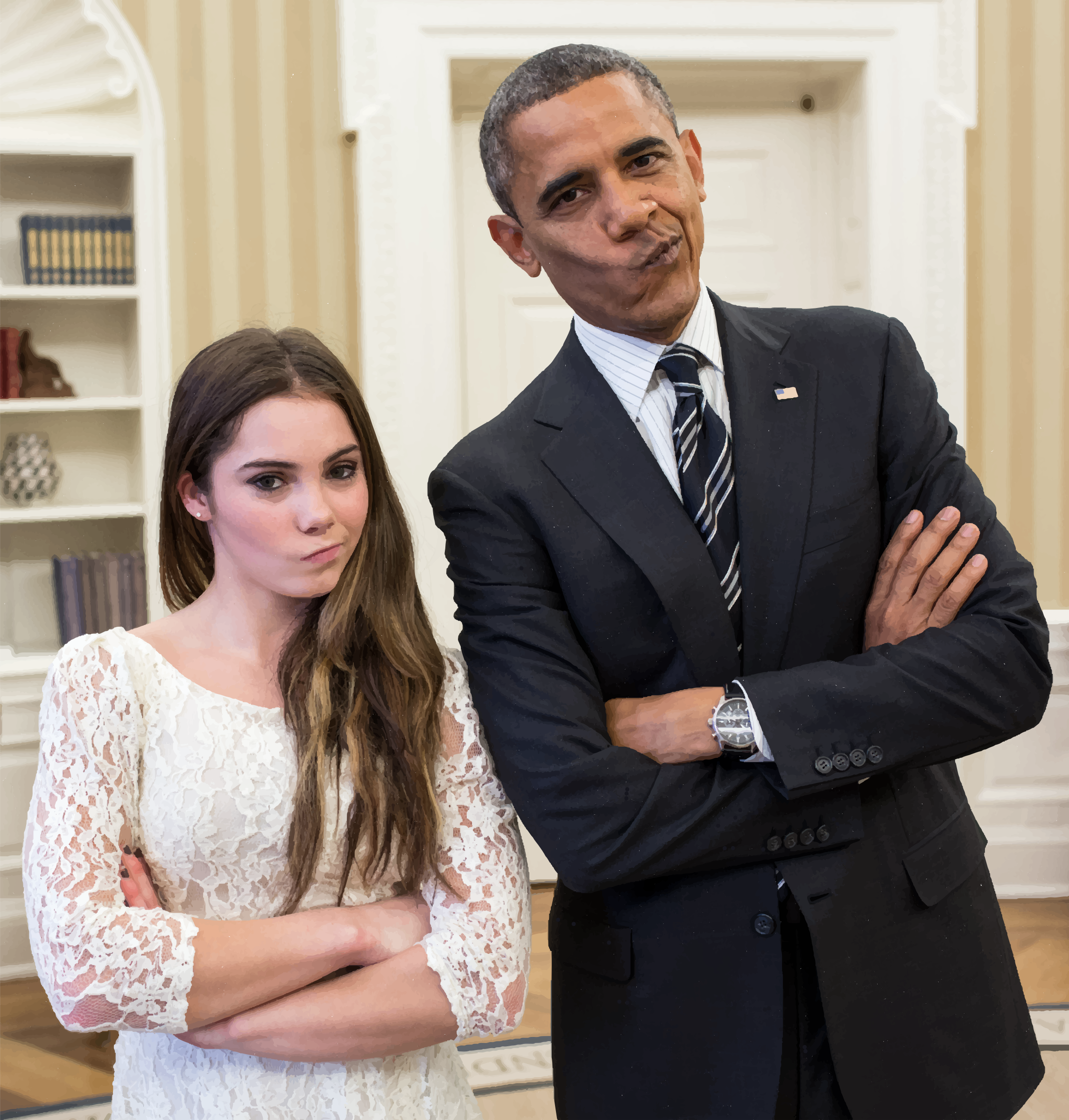 Barack Obama With Artistic Gymnastic McKayla Maroney by GDJ