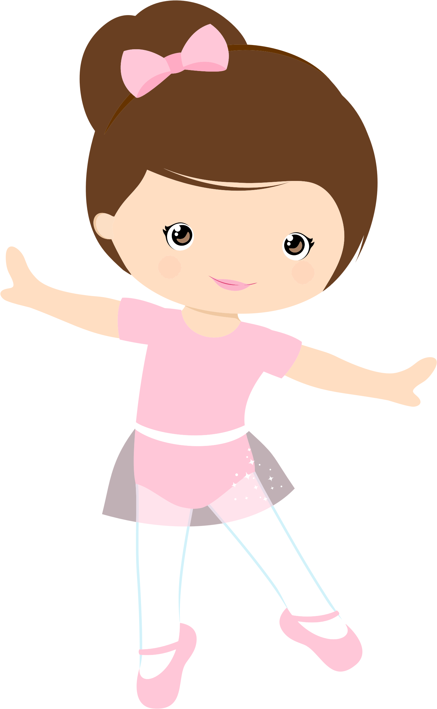 clipart little girl ballerina