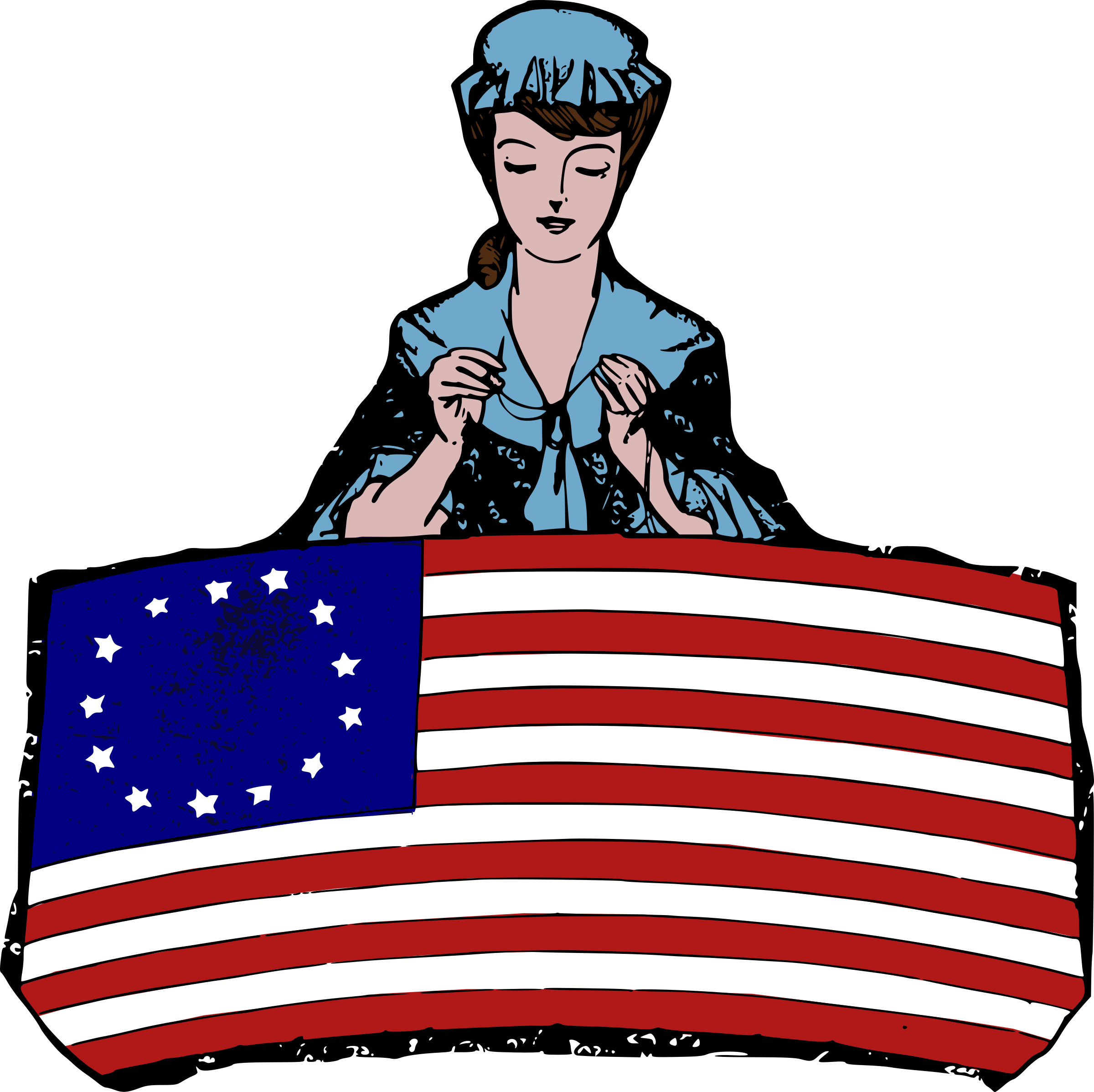 Betsy Ross: Colour by j4p4n