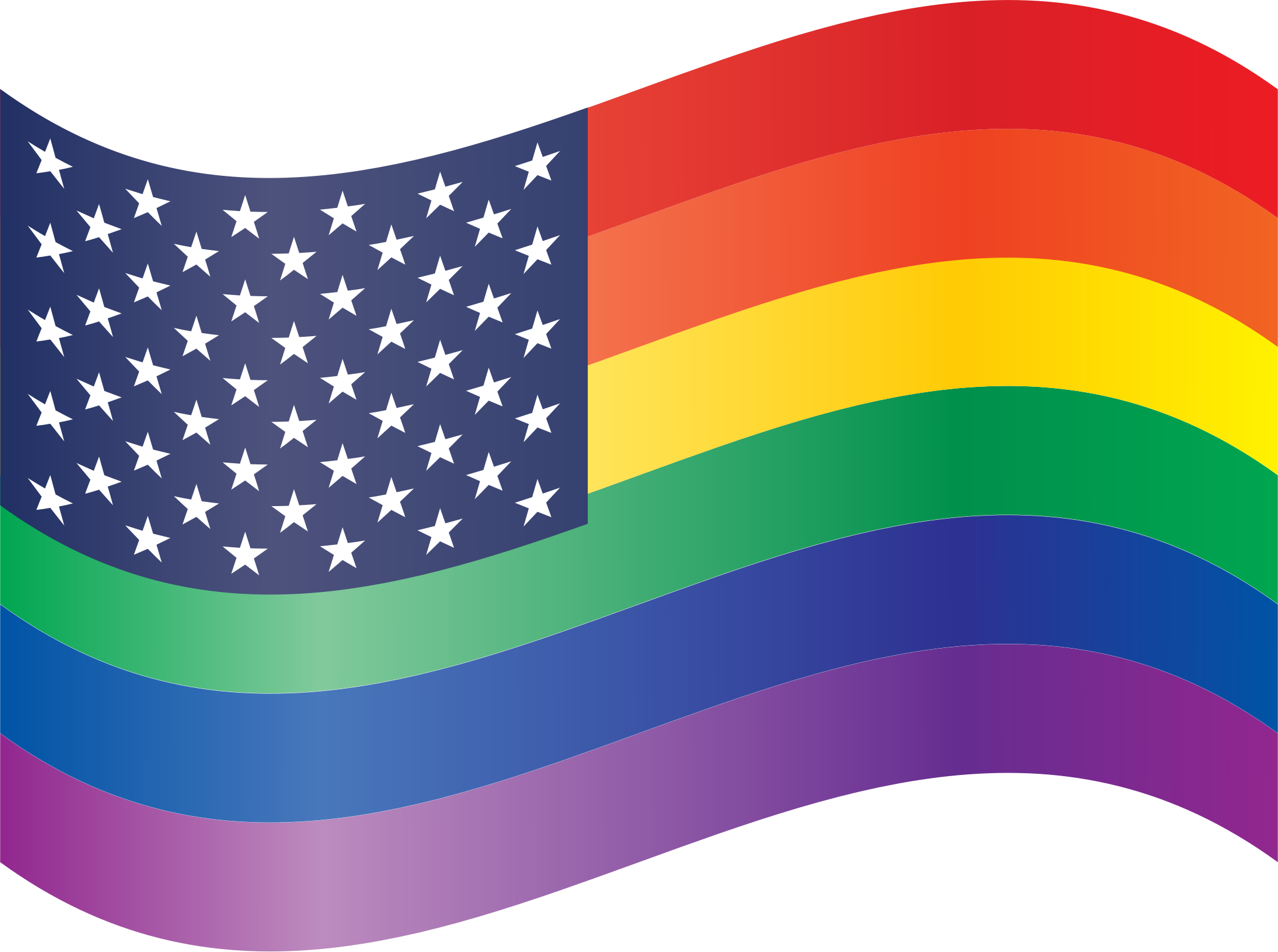 Waving Rainbow Stars and Stripes by feorag