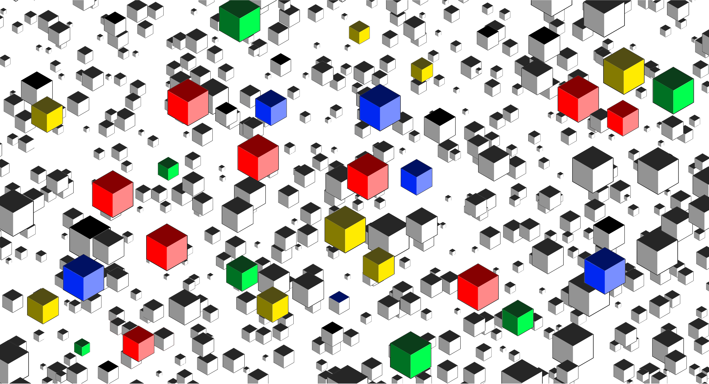 Isometric Cubes Background by GDJ