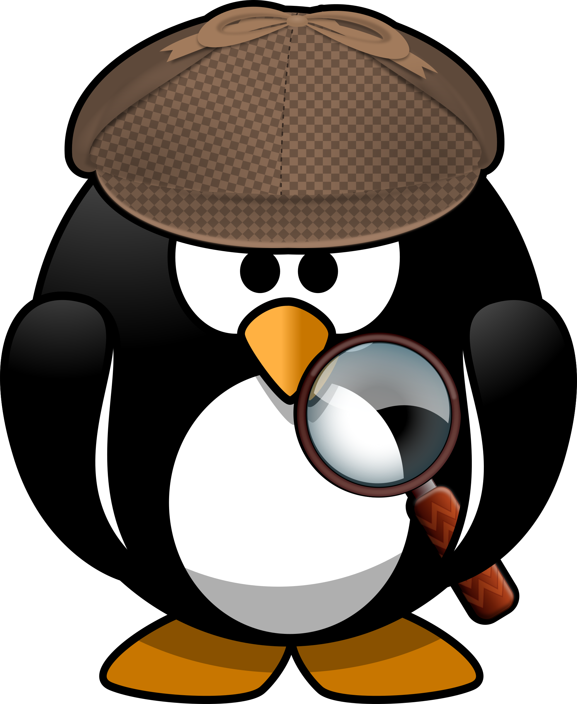 Sleuth penguin by Moini