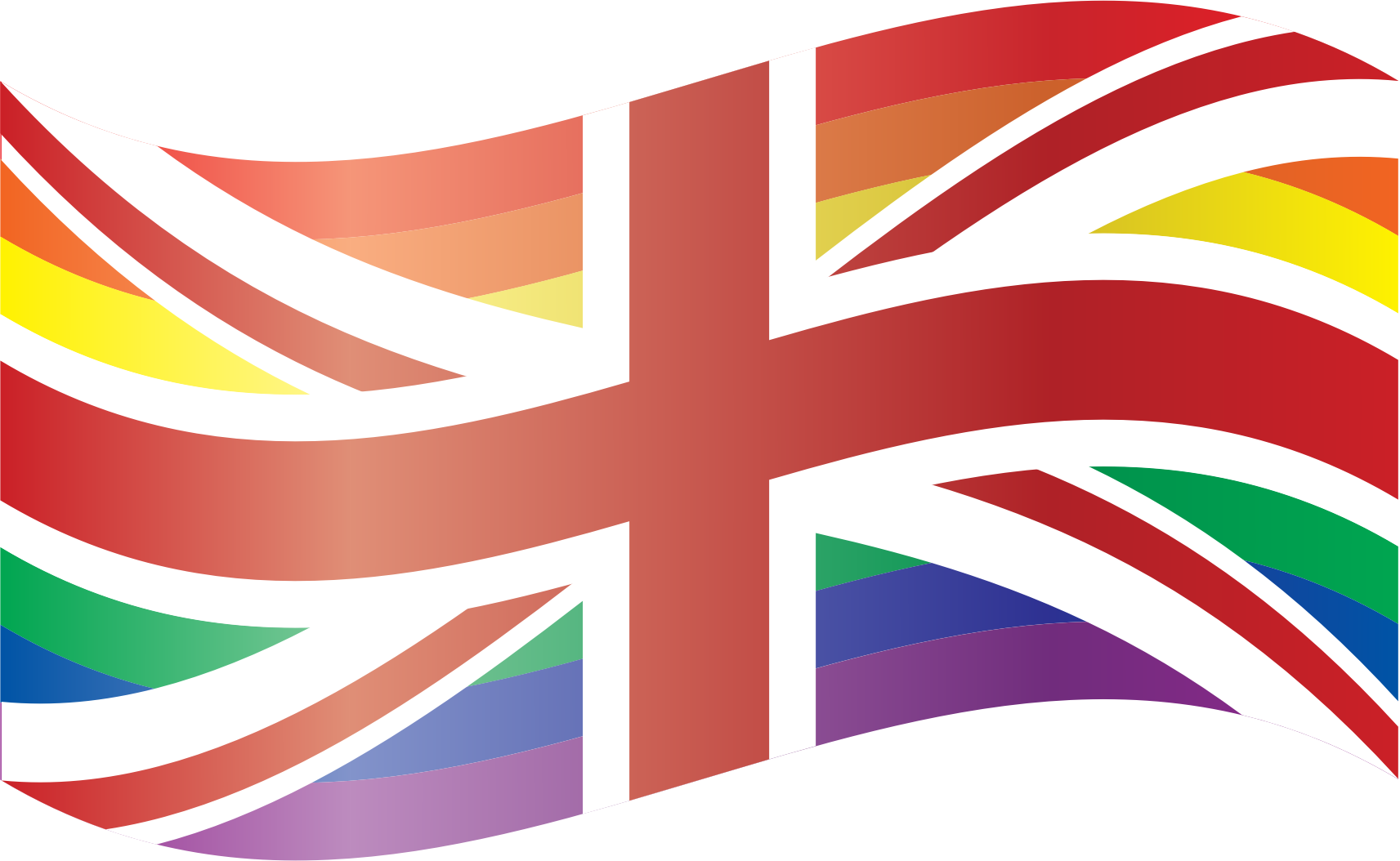 Waving Rainbow Union Flag by feorag
