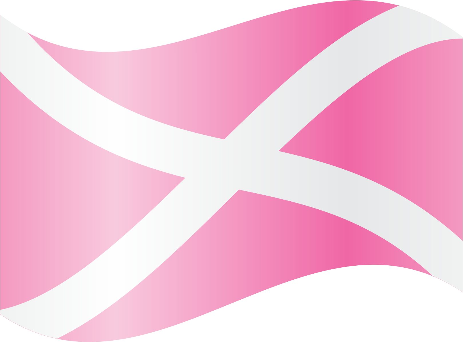 Waving Pink Saltire by feorag