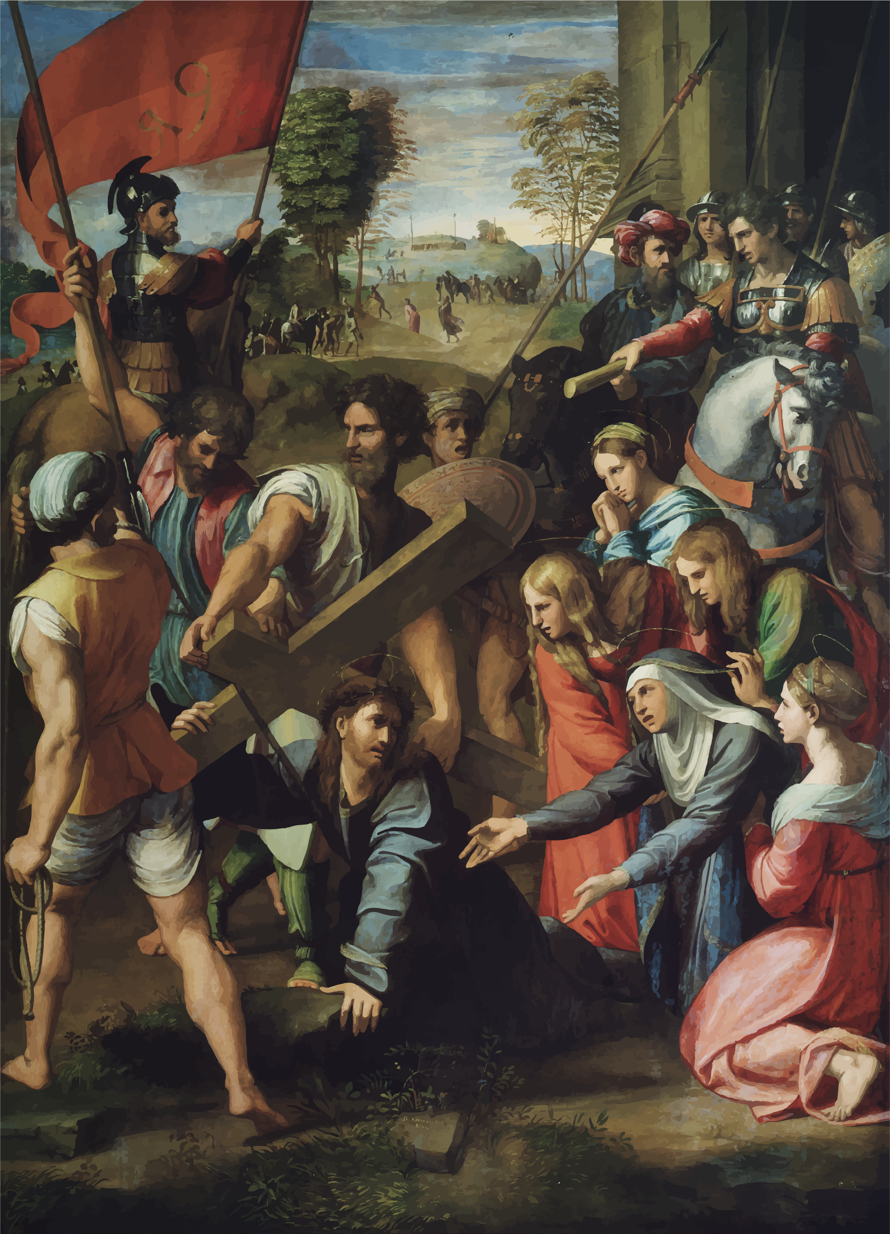 Christ Falling On The Way To Calvary By Raphael by GDJ