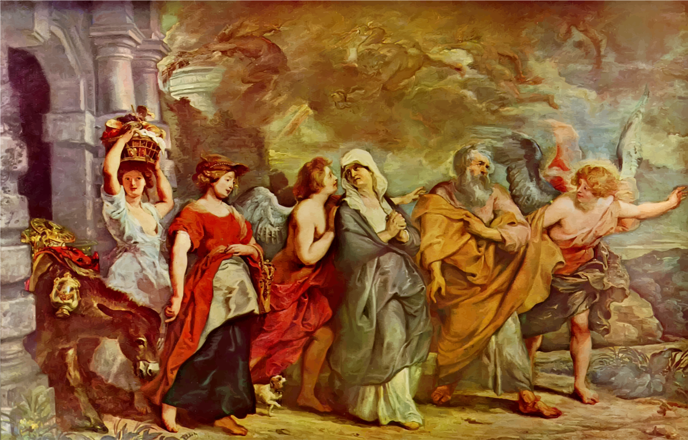 The Flight Of Lot By Peter Paul Rubens by GDJ
