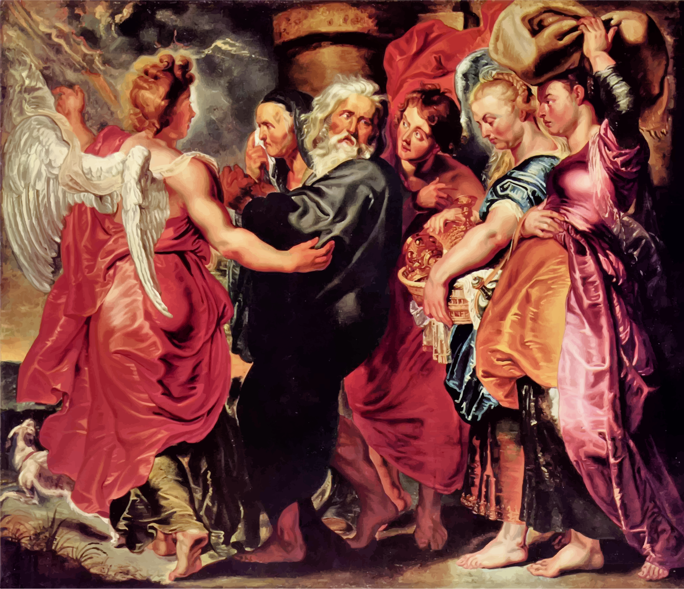 Lot Leaves Sodom with His Family By Peter Paul Rubens by GDJ