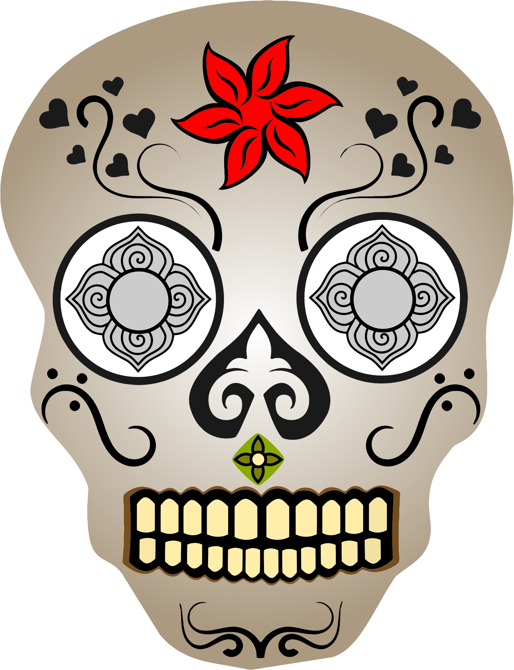 Ornate Skull 2 by GDJ