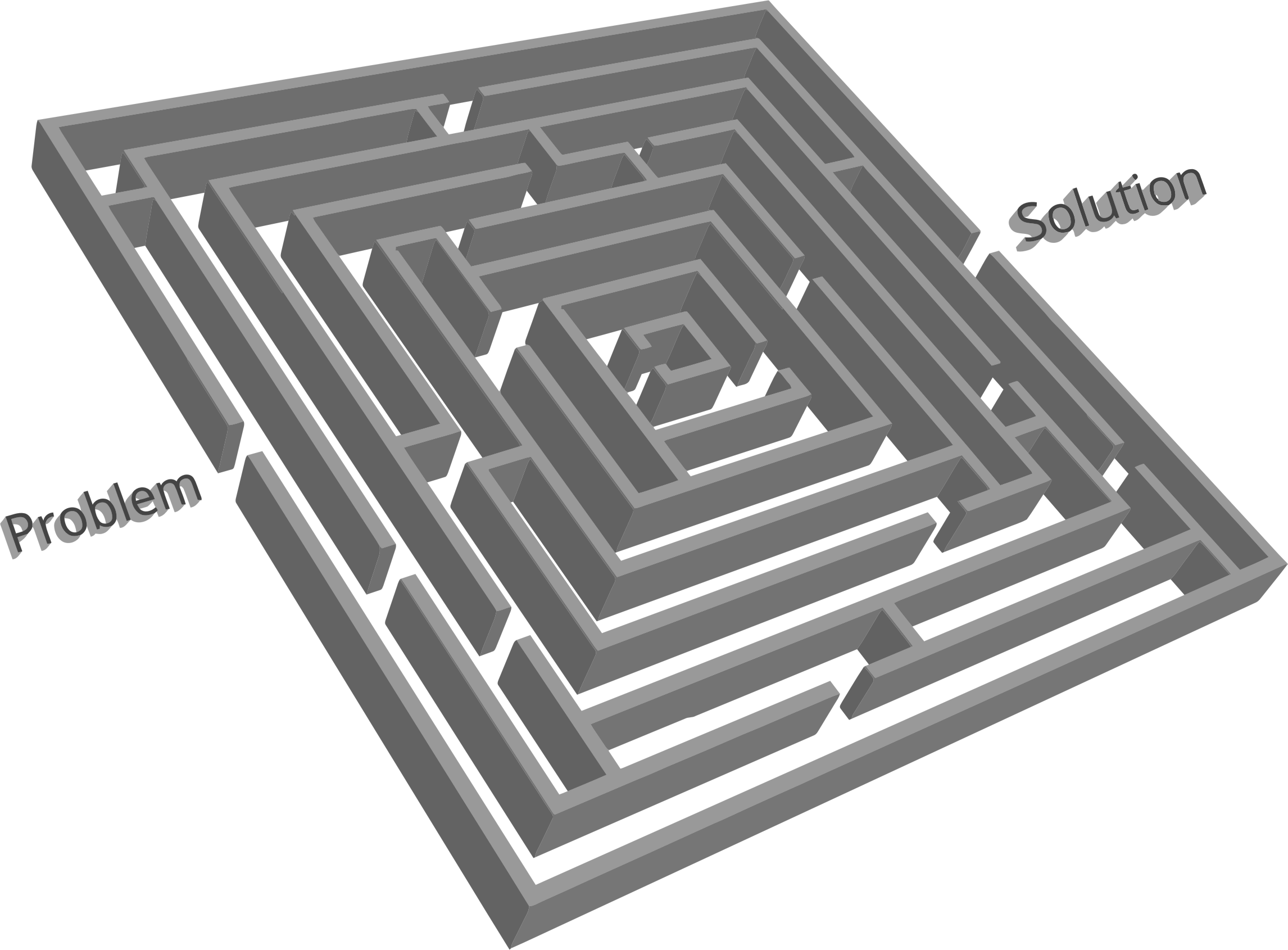 3D Problem Solution Maze  by GDJ