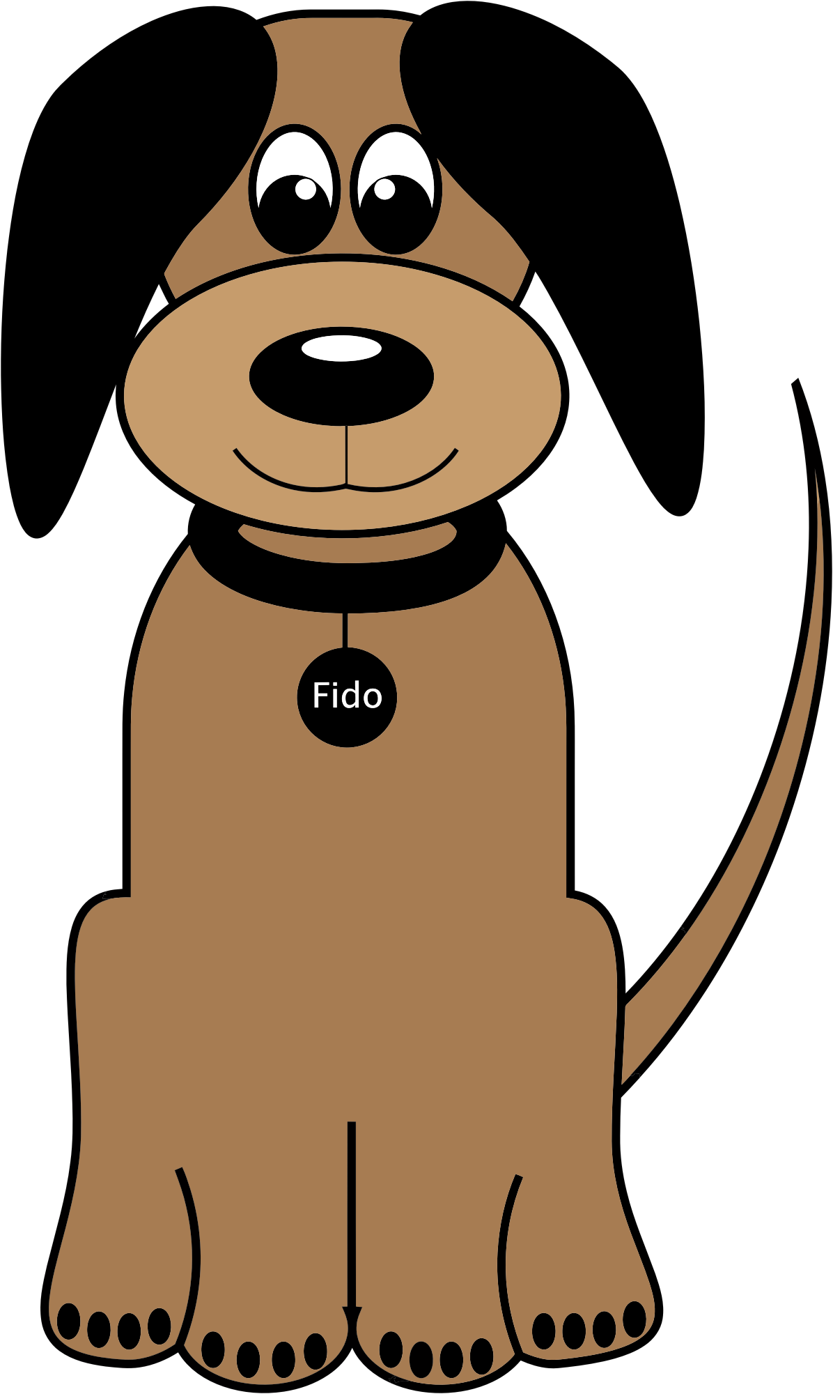 Cartoon Dog Fido by GDJ