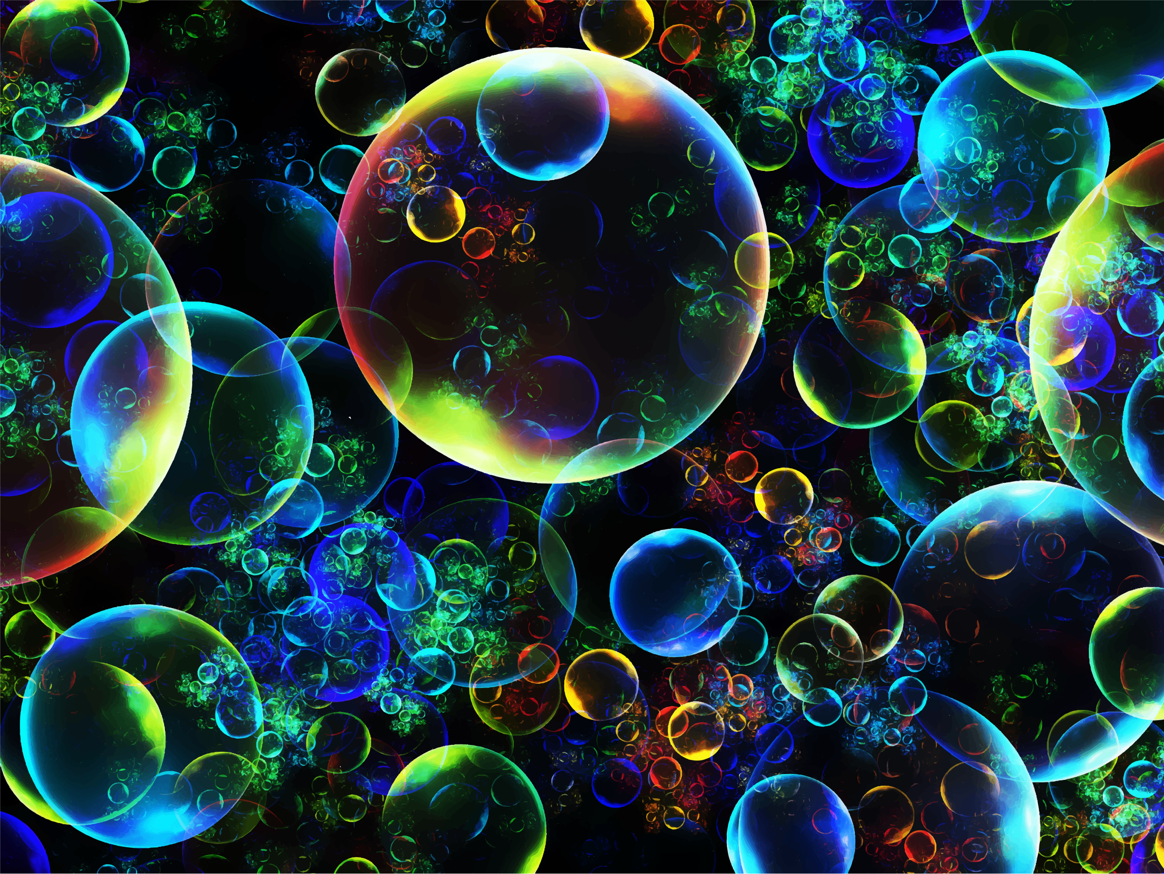 Prismatic Bubble Fractal (Daily Sketch 32) by GDJ