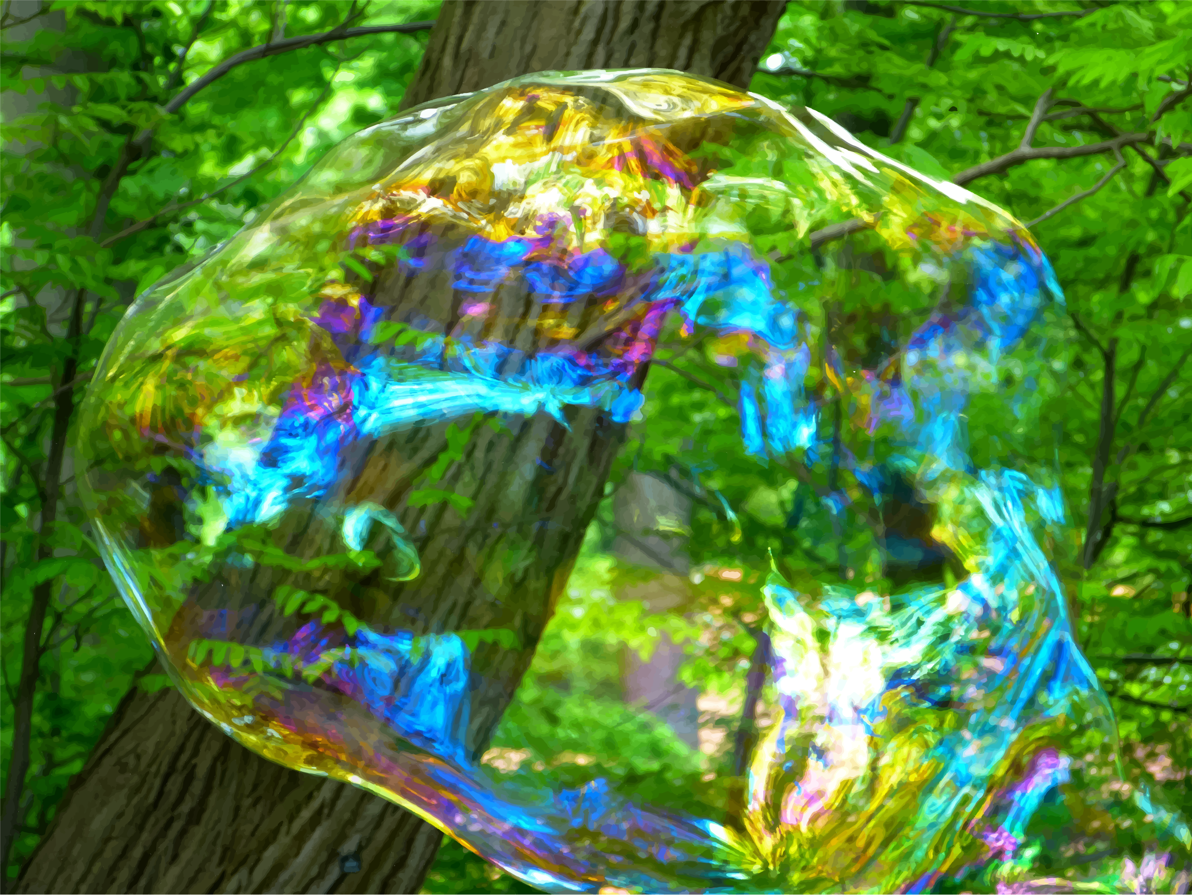 Iridescent Bubble Burst (Daily Sketch 32) by GDJ