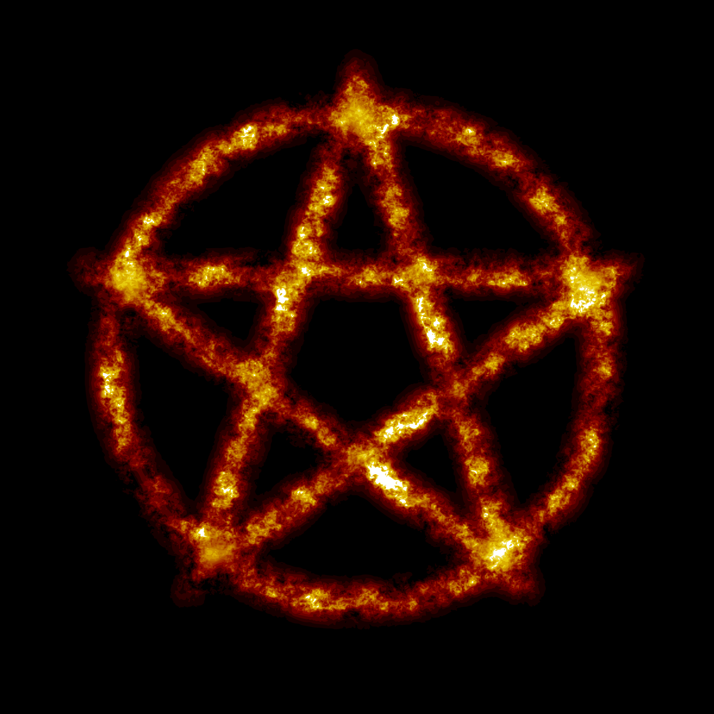 Burning pentagram by Firkin