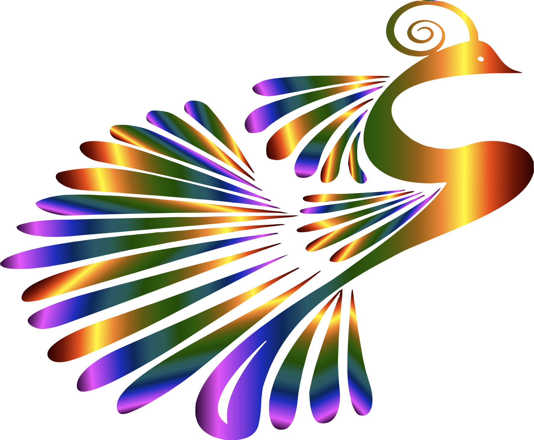 Stylized Peacock Colorful by GDJ