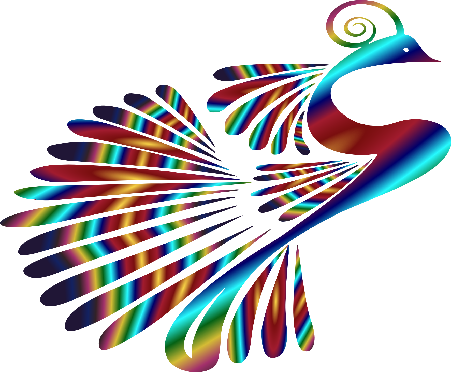 Stylized Peacock Colorful 3 by GDJ