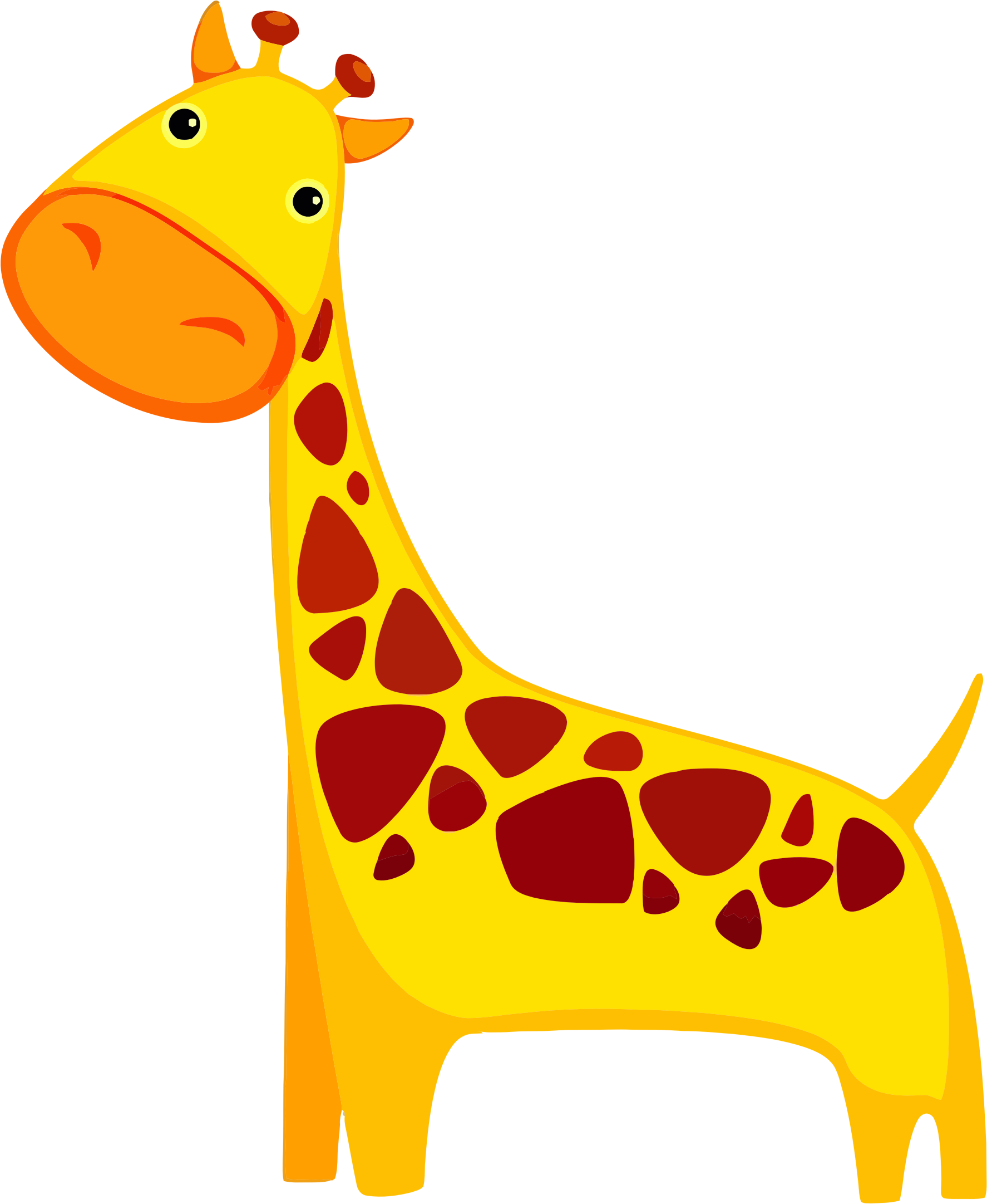 Cartoon Giraffe by GDJ