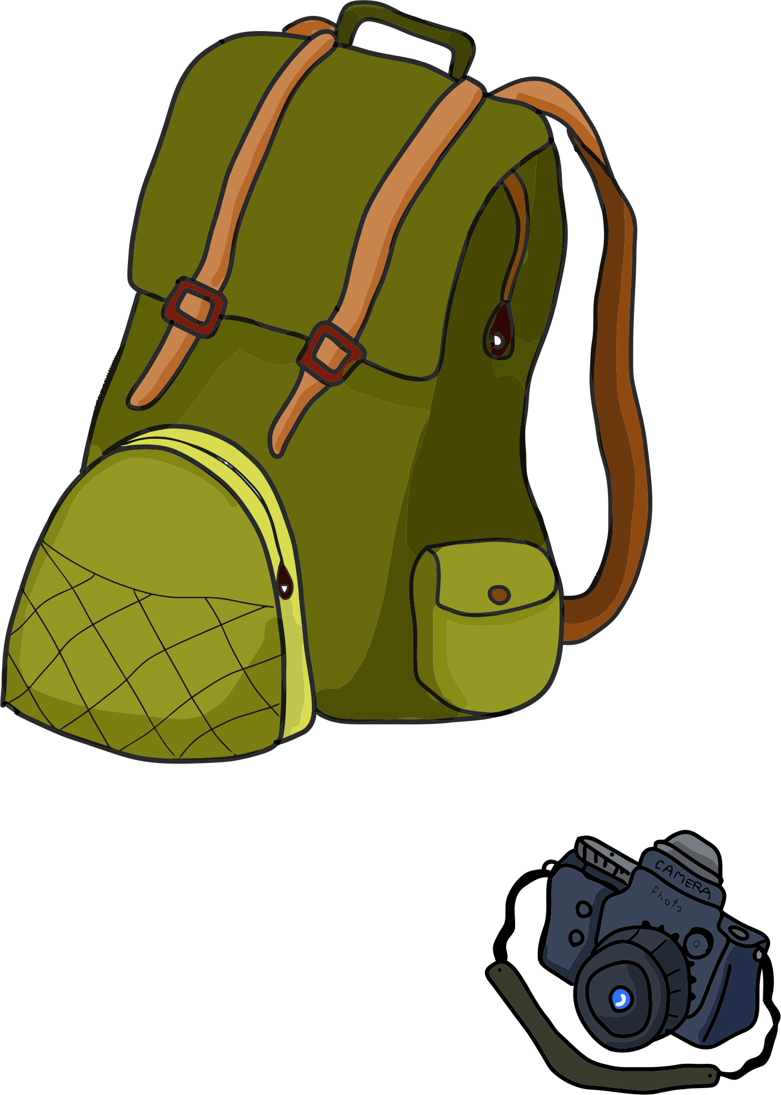 Backpack And Camera by GDJ