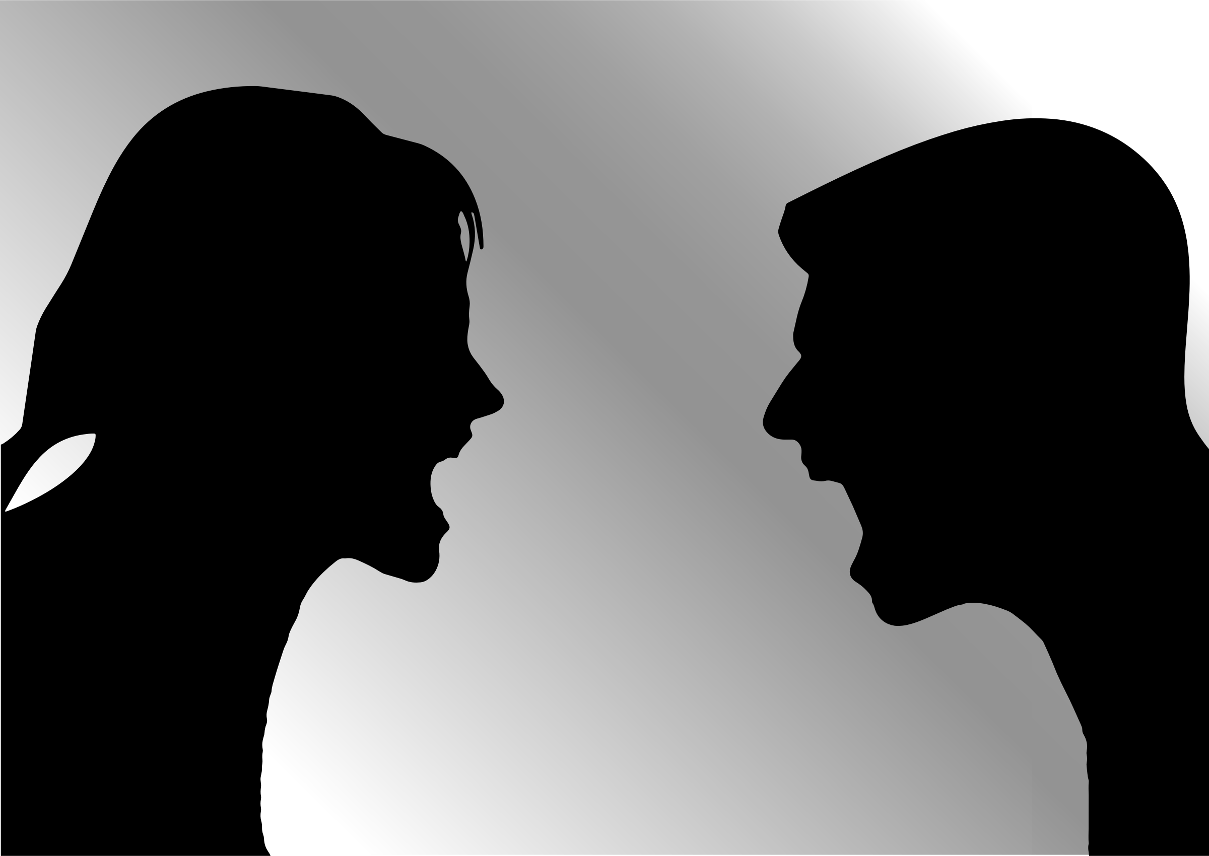 Man Woman Arguing Silhouette by GDJ