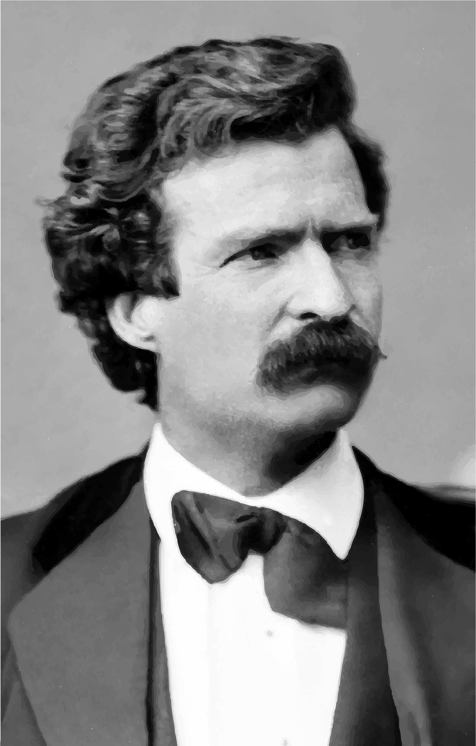 Young Mark Twain Portrait Feb 7 1871 by GDJ