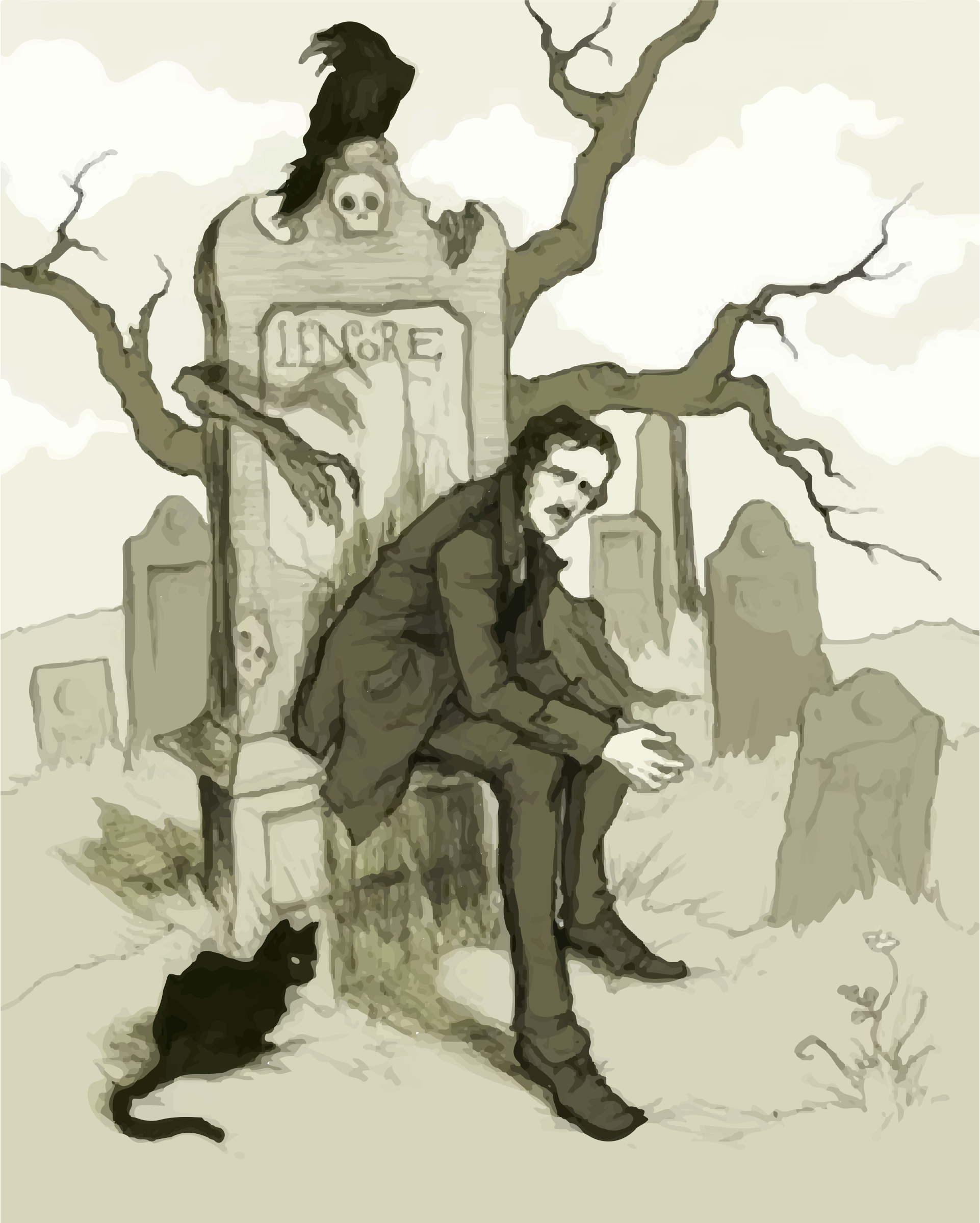 Edgar Allan Poe Illustration by GDJ