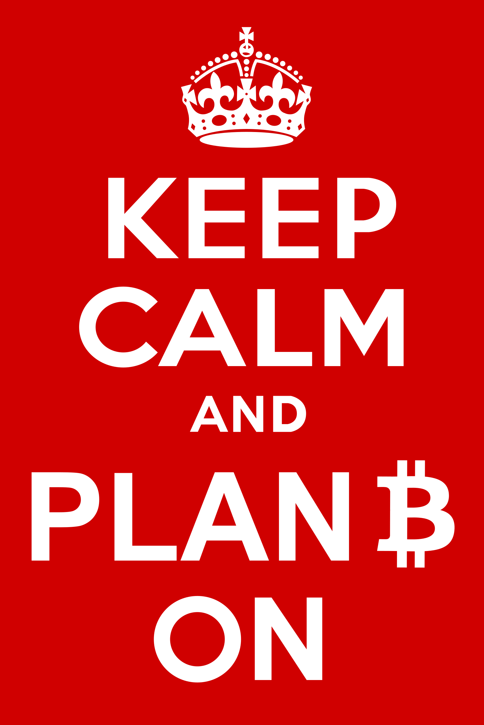 Keep Calm and Plan Bitcoin On by y12