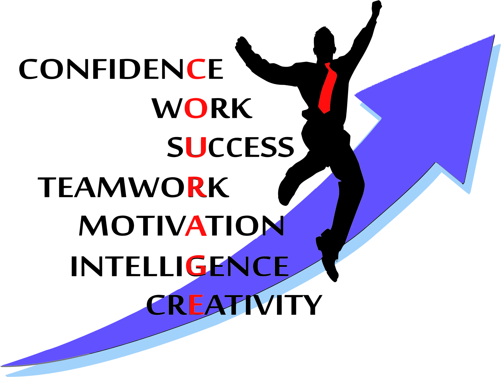 Clipart - Courage Typography