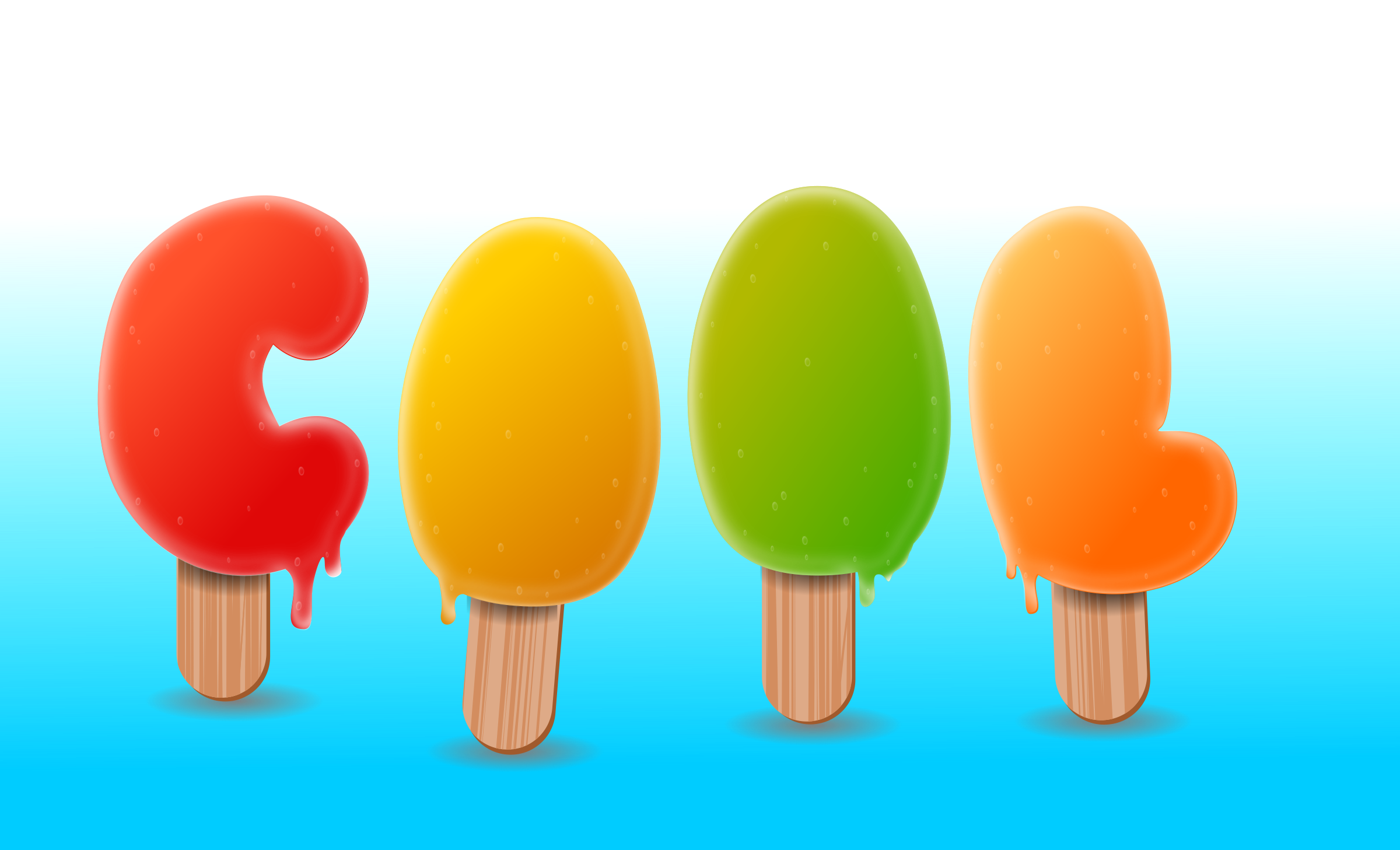 ice popcicle text by Chrisdesign