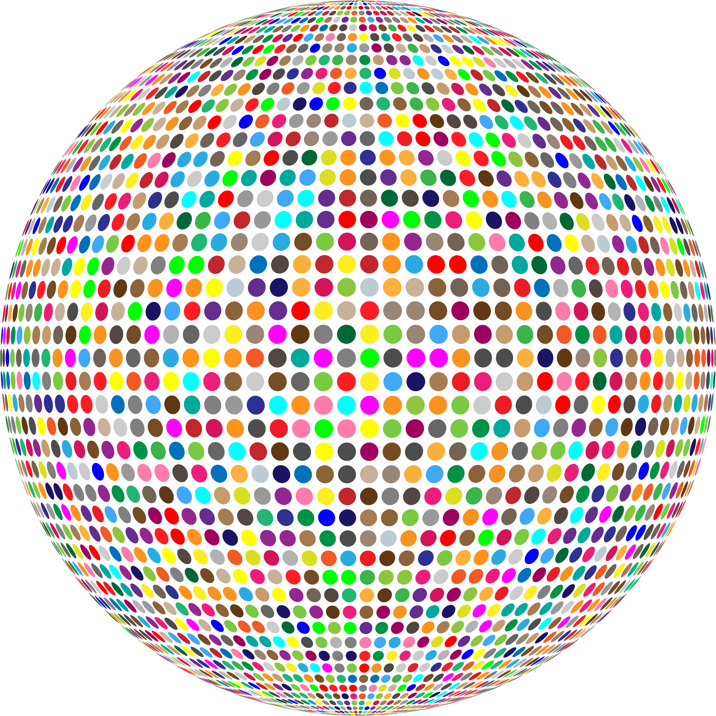Clipart - Colorful High Density Dots Sphere