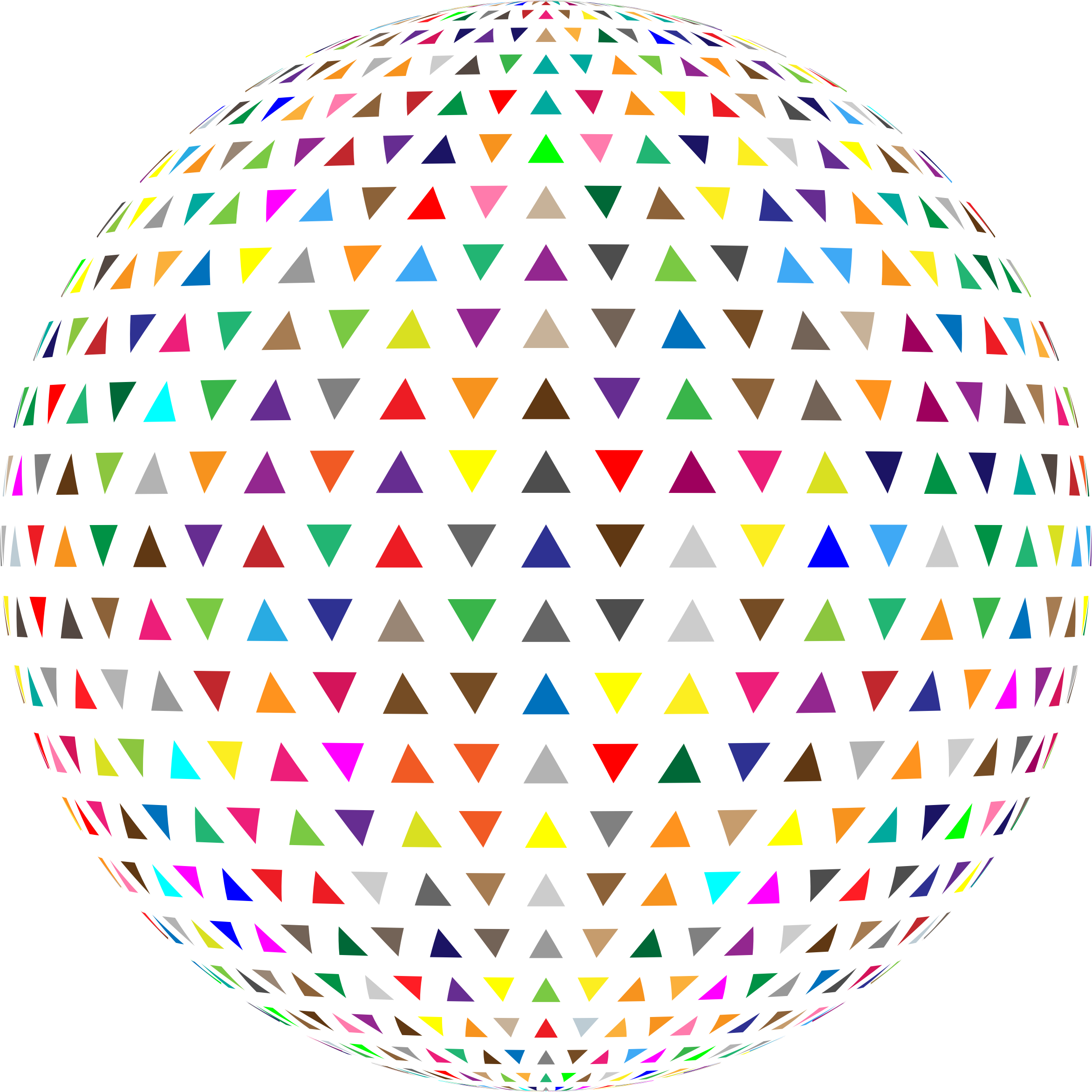 Colorful Interlocking Triangles Sphere by GDJ
